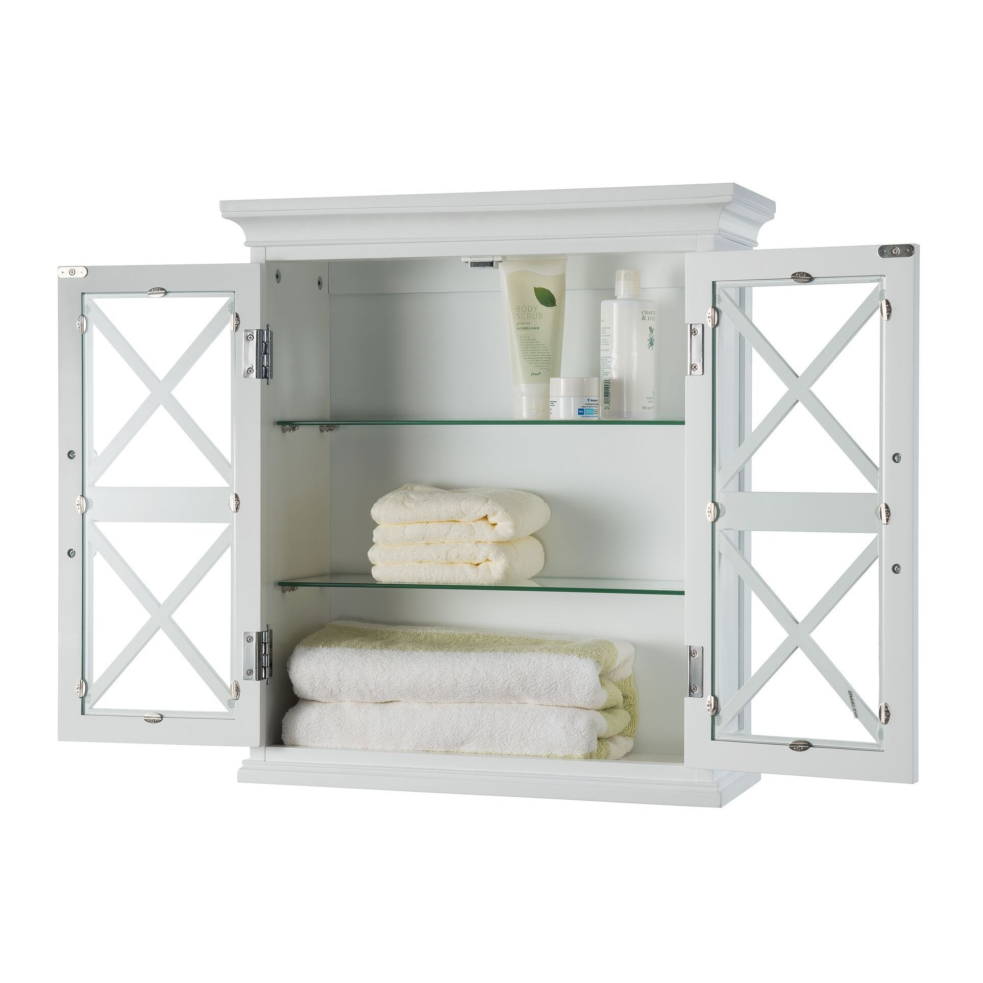 grayson wall shelf room shop elegant home fashions grayson wall cabinet with two doors free shipping today overstockcom 12007758
