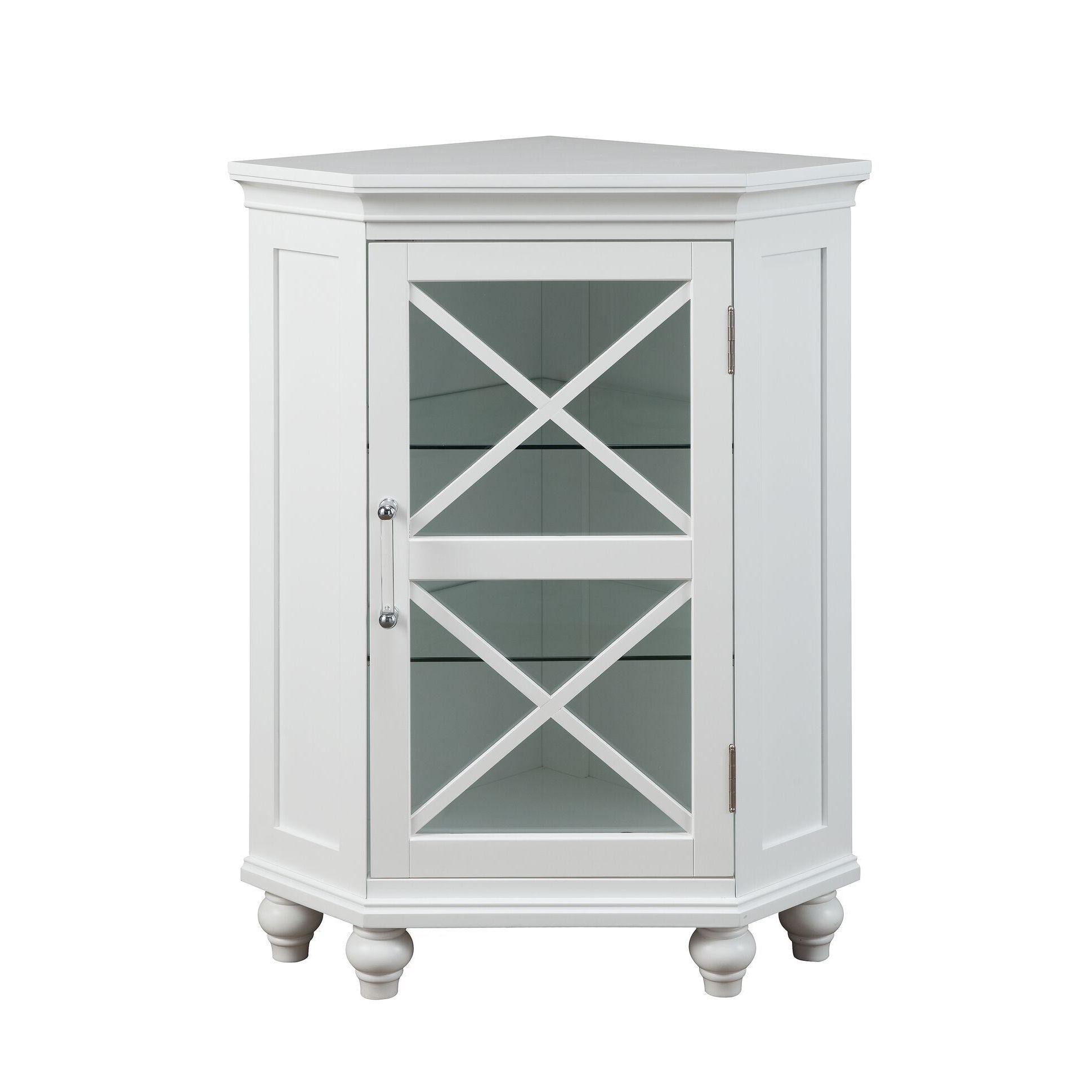 Shop Grayson Corner Floor Cabinet by Elegant Home Fashions - Free ...