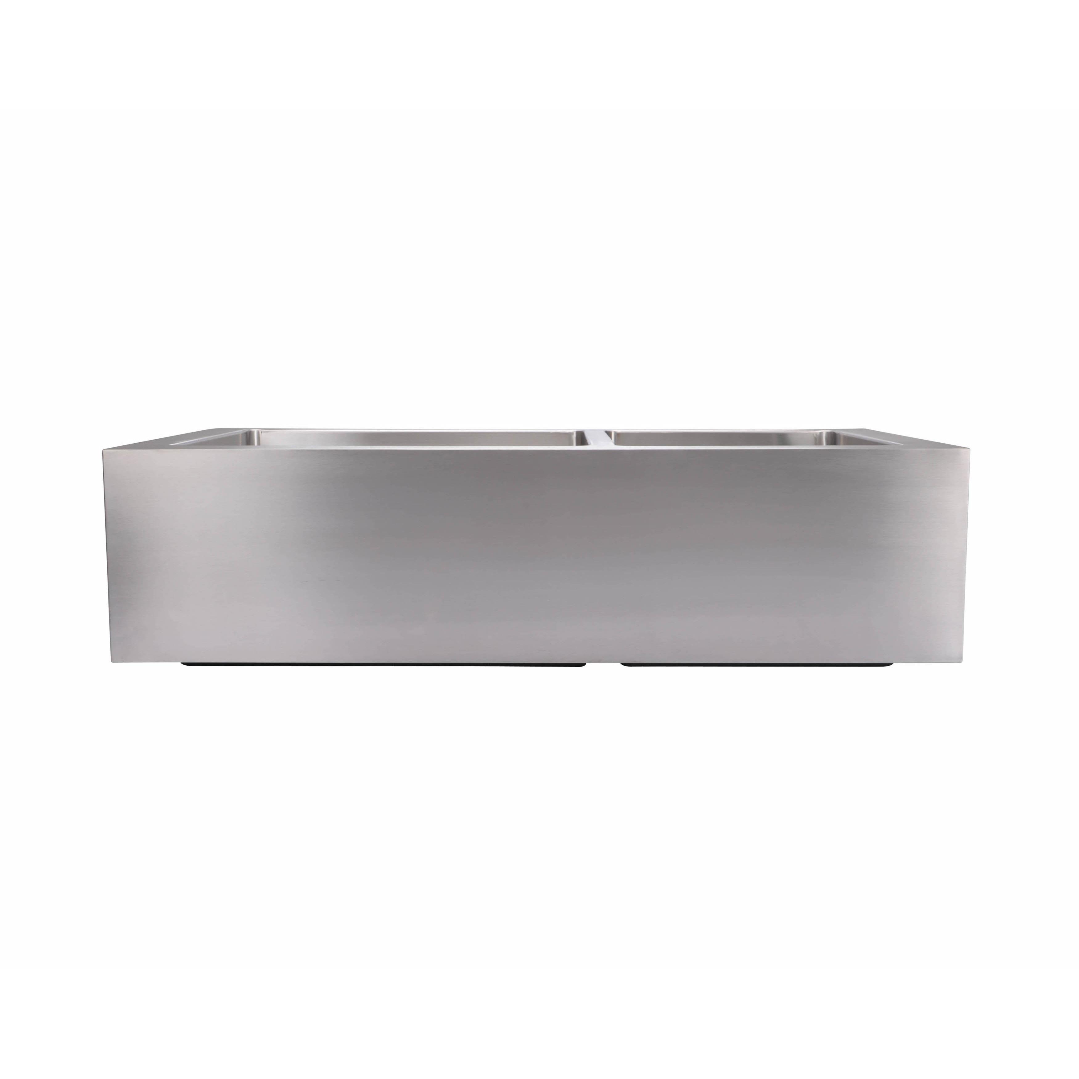 Shop Hahn Extra Large 6040 Flat Apron Double Bowl Kitchen Sink