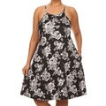 MOA Collection Women's Plus-size Multicolored Polyester/Spandex Floral Sleeveless Dress