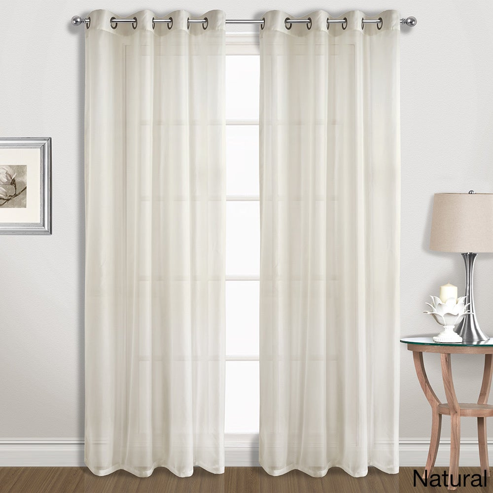 Shop Luxury Collection Extra Wide Grommet Sheer Voile Curtain Panel Pair
