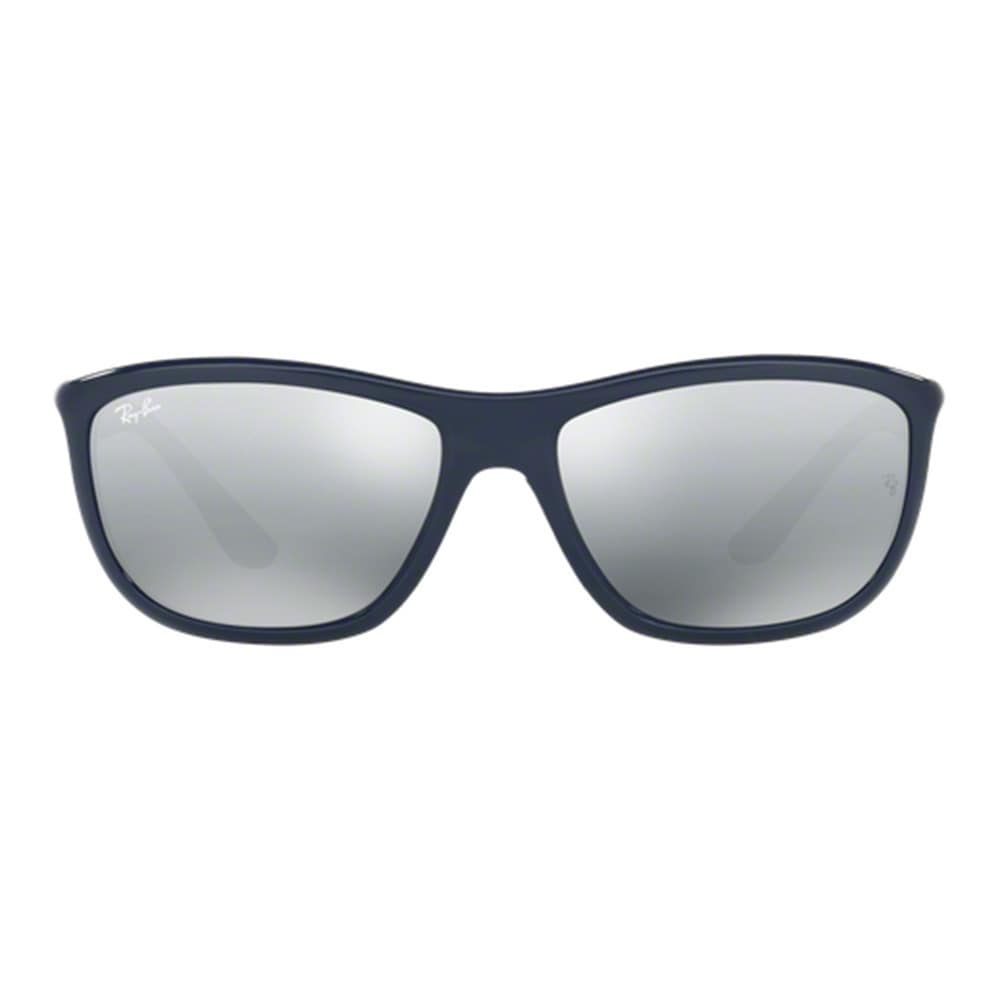 f098f6e6792 Shop Ray-Ban RB8351 Classic Unisex Square Shiny Blue Frame Grey Mirror Lens  Sunglasses - Free Shipping Today - Overstock.com - 12009156