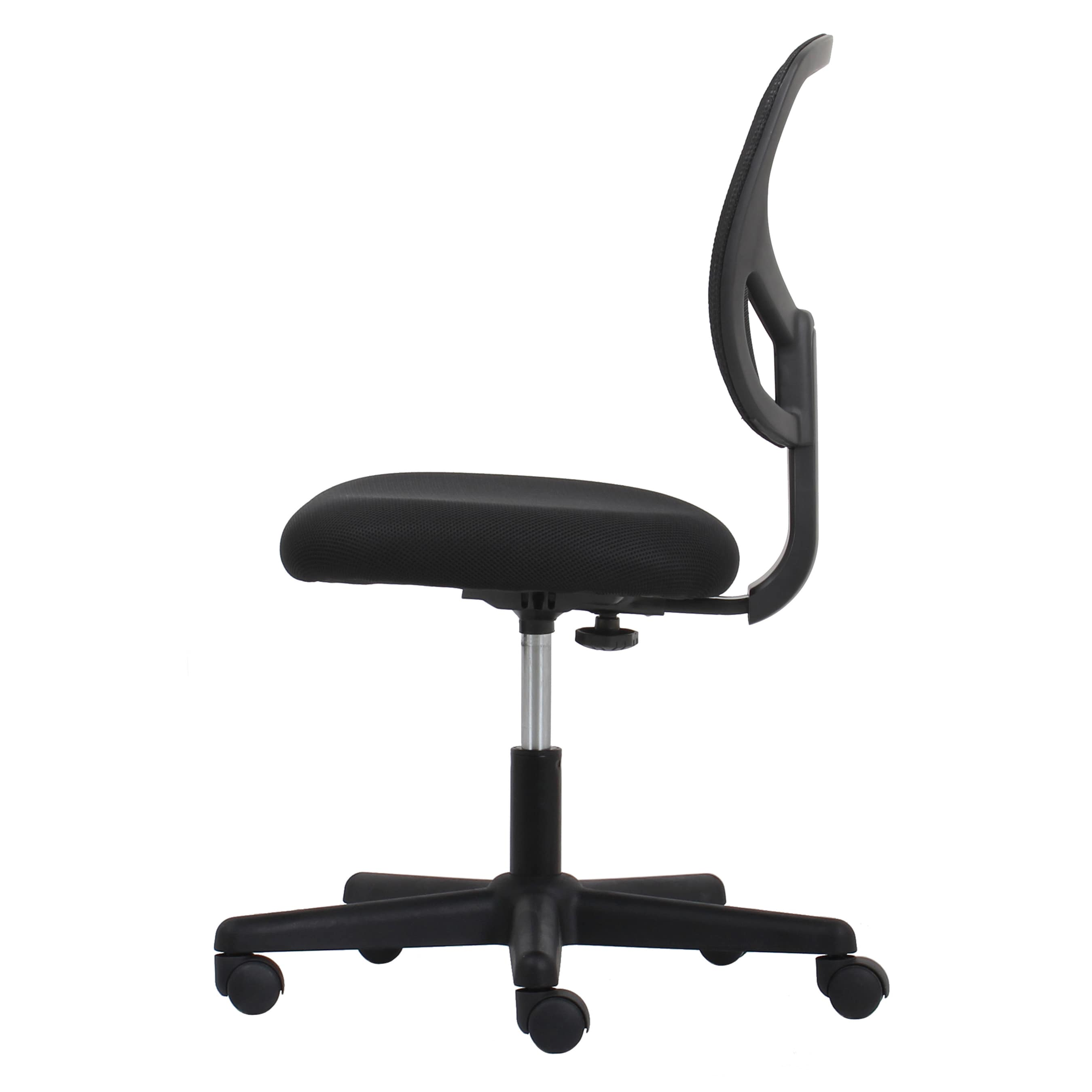 The Curated Nomad Doherty Swivel Black Mesh Armless Task Chair   Free  Shipping Today   Overstock   18887280