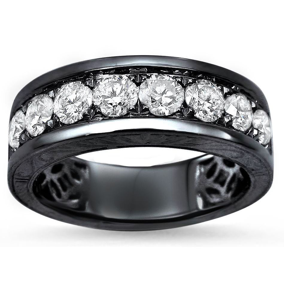 unisex women wedding size gold products black band bands steel titanium men silver ring