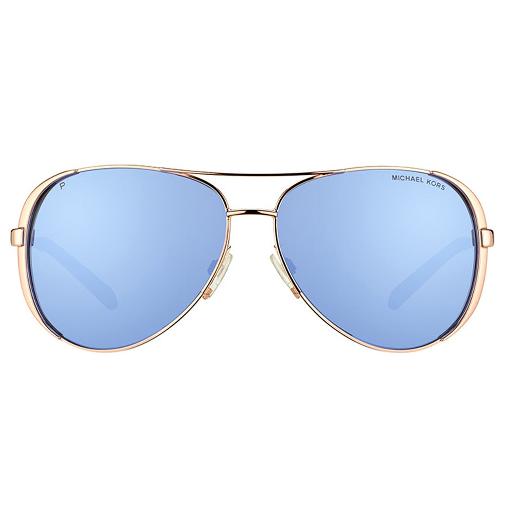 96962c6f804 Shop Michael Kors Chelsea Rose Gold Metal Aviator Purple Mirrored Polarized  Lens Sunglasses - Free Shipping Today - Overstock - 12013582