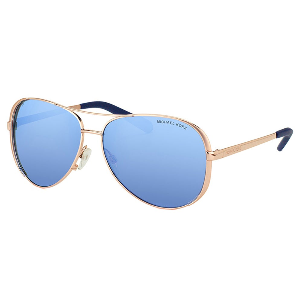 04d1fd5e16 Shop Michael Kors Chelsea Rose Gold Metal Aviator Purple Mirrored Polarized  Lens Sunglasses - Free Shipping Today - Overstock - 12013582