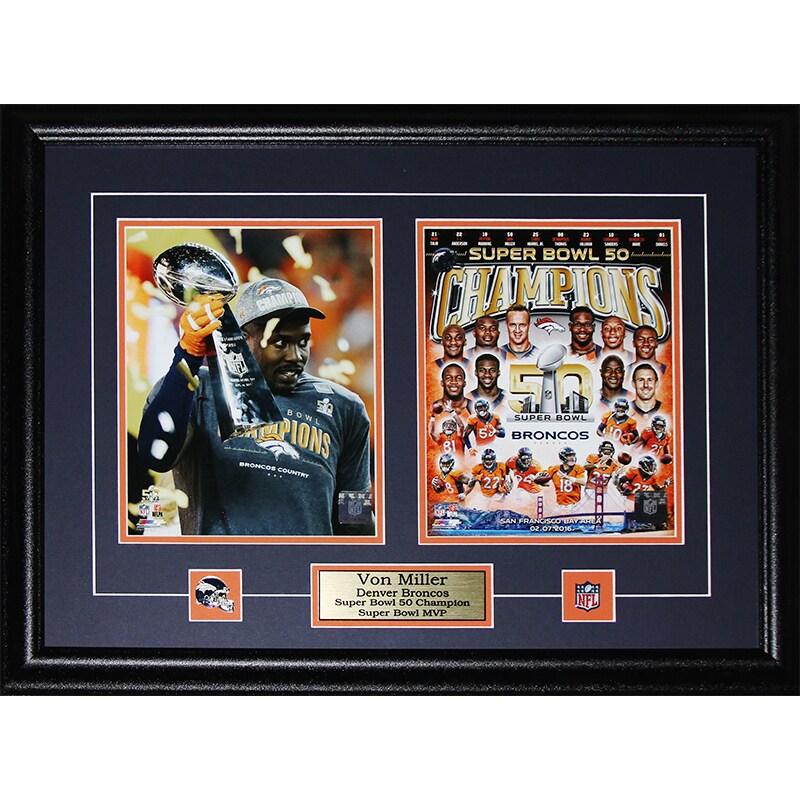 Von Miller Denver Broncos Super Bowl 50 MVP 2-photo Frame - Free ...