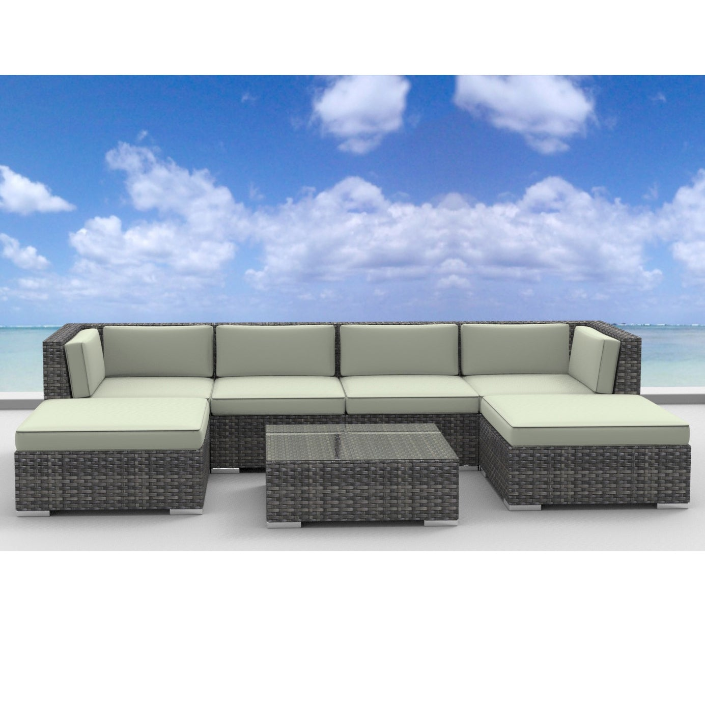 Urban Furnishing Maui Rattan 7 Piece Outdoor Sectional Sofa Patio Furniture Set Free Shipping Today 18890551