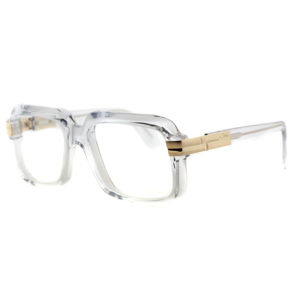 43fac0cd3d3 Cazal 607 065 Legends Crystal Gold Plastic 56-millimeter Square Eyeglasses