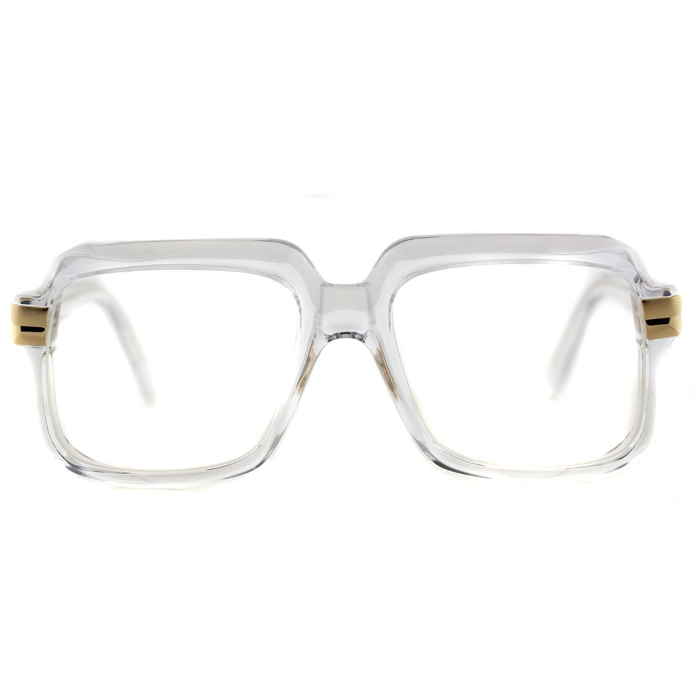 cf203cedc2a Shop Cazal 607 065 Legends Crystal Gold Plastic 56-millimeter Square  Eyeglasses - Free Shipping Today - Overstock - 12015432