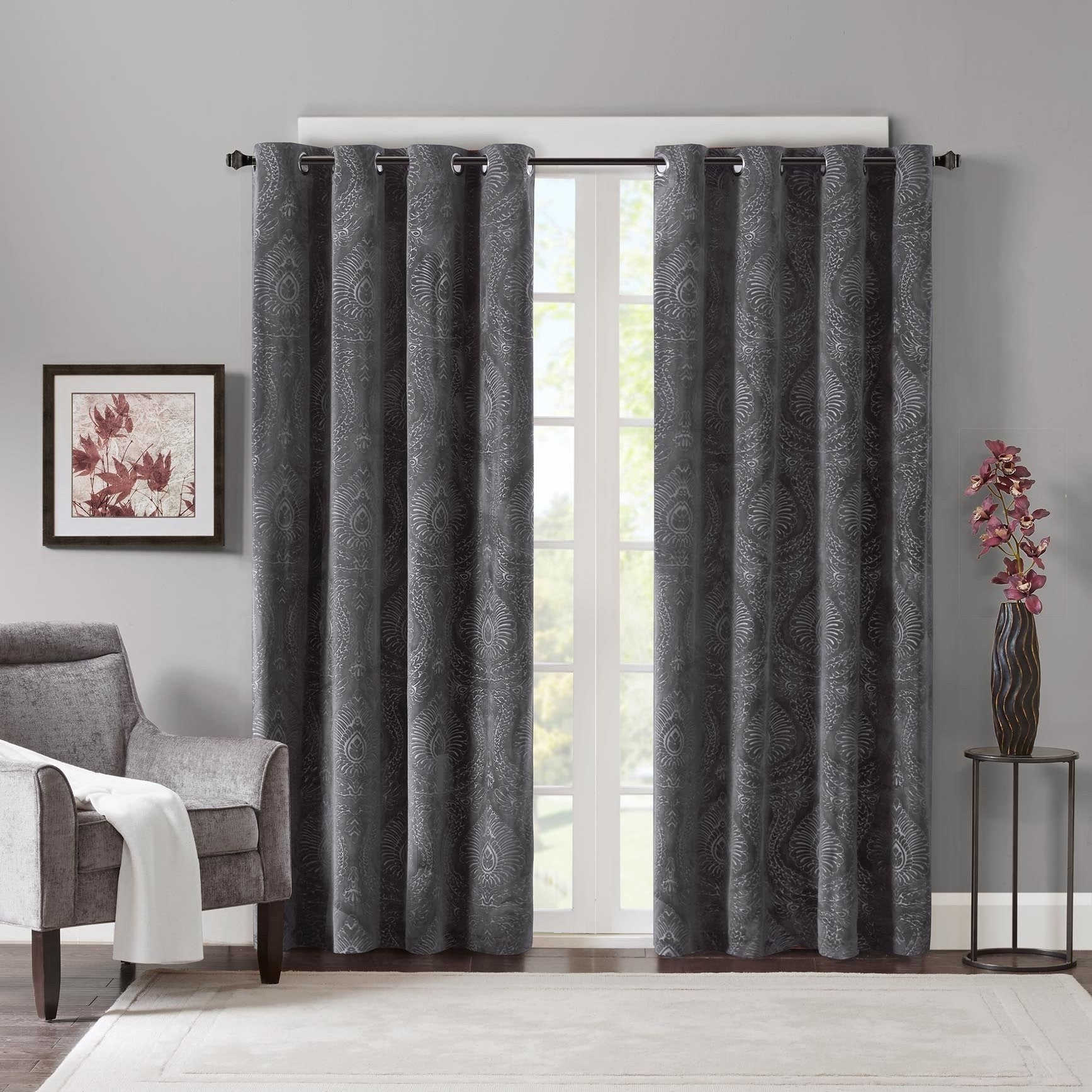 amazon price x curtain home half panels vpch com velvet burgundy signature kitchen drapes dp blackout
