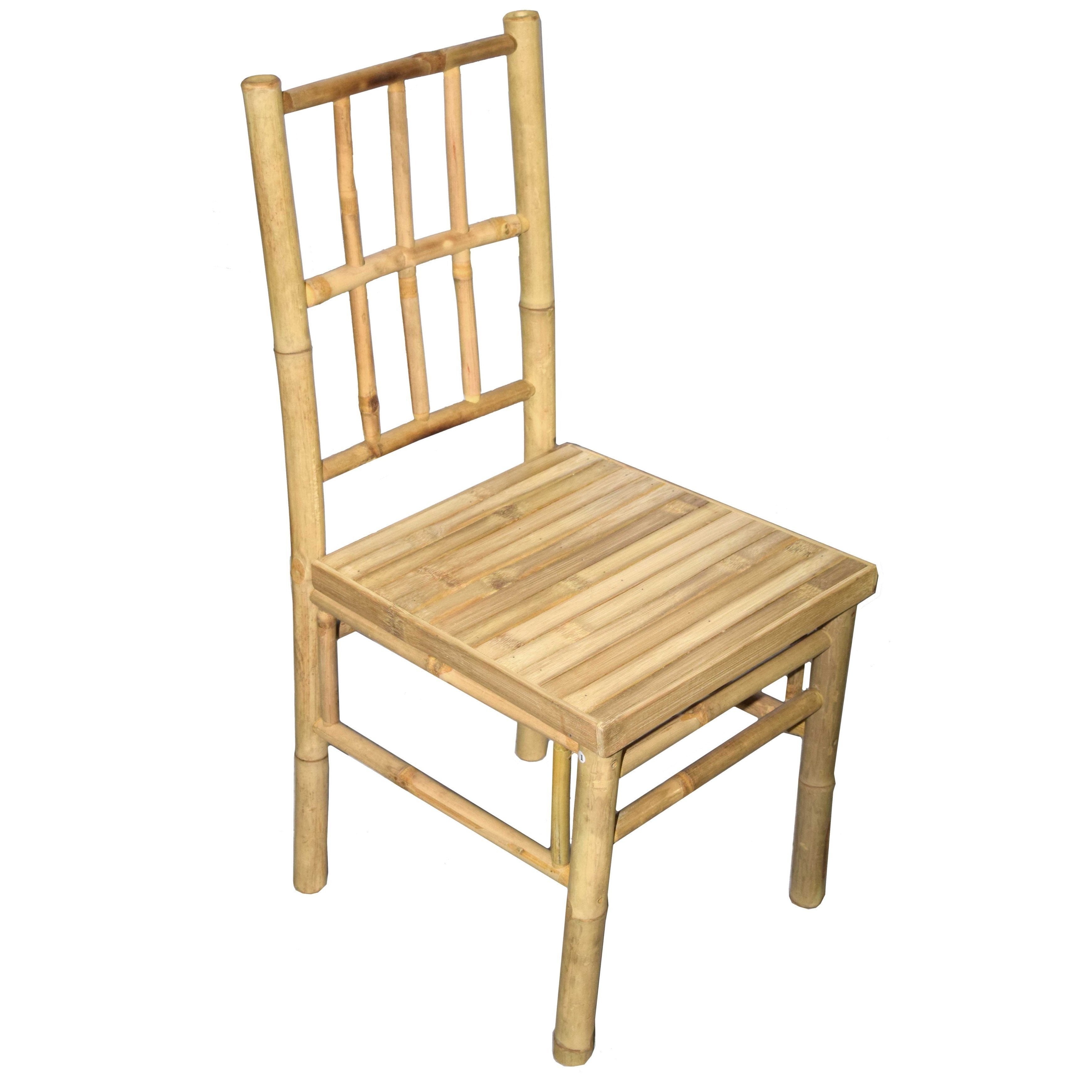 Shop handmade set of 2 bamboo dining chairs vietnam free shipping today overstock com 12020555