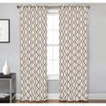 Crawford Ivory/Chocolate Microfiber Grommet Curtain Panel Pair