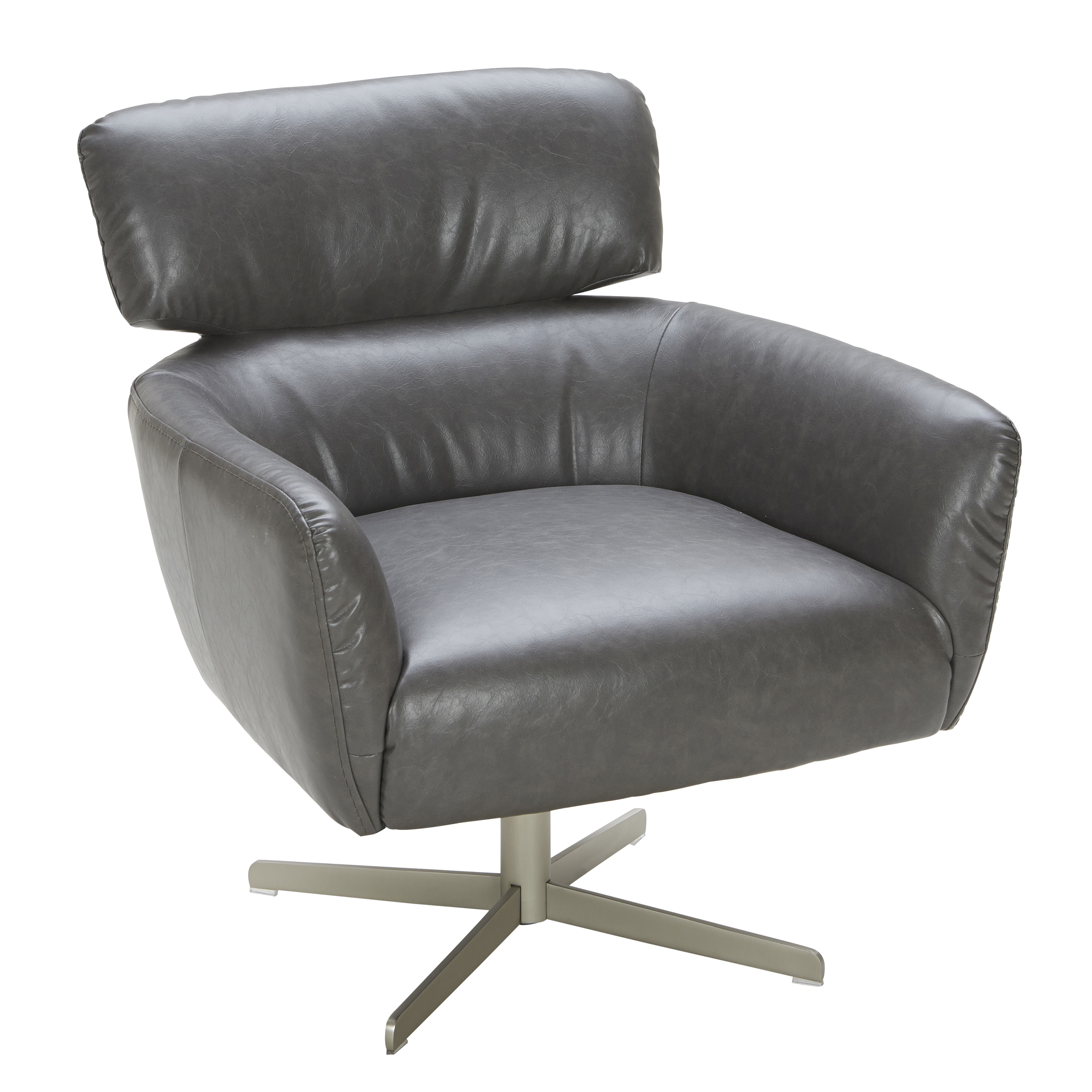LumiSource Hartman Solid Colored Faux Leather Accent Chair   Free Shipping  Today   Overstock   18895940