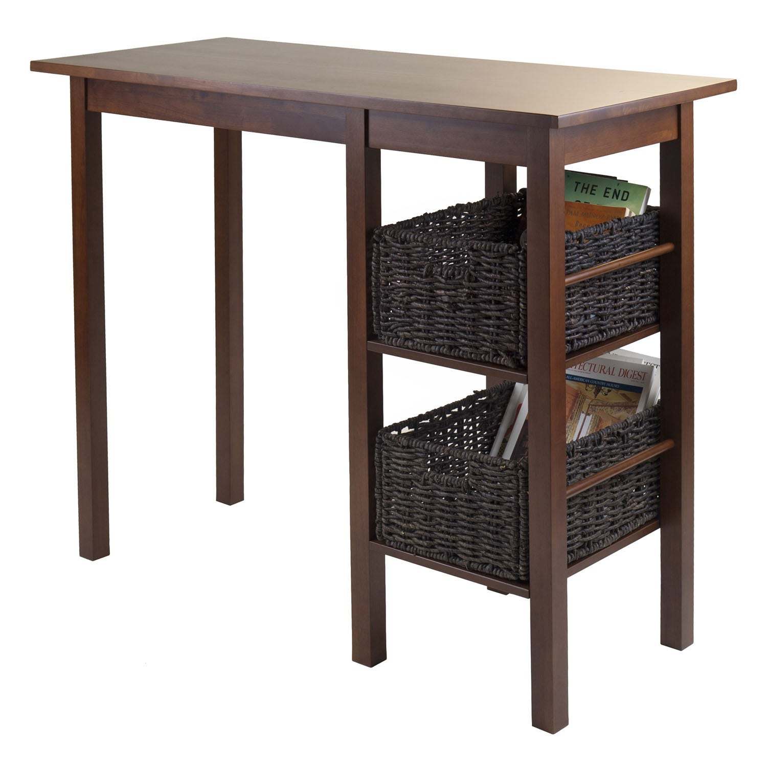Egan 3 Pc Breakfast Table With 2 Baskets Set Free Shipping Today 12021201