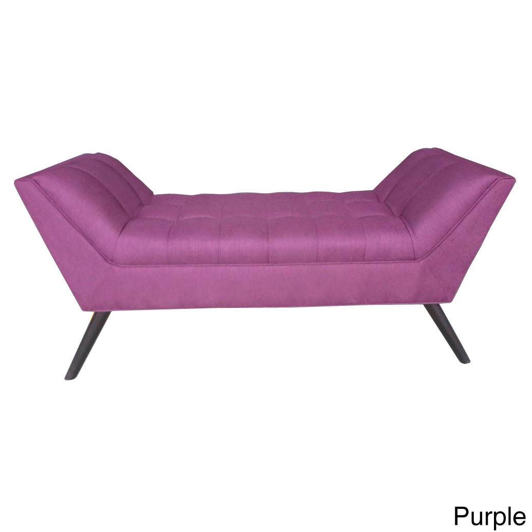 value furniture x velvet purple storage city bench valerie