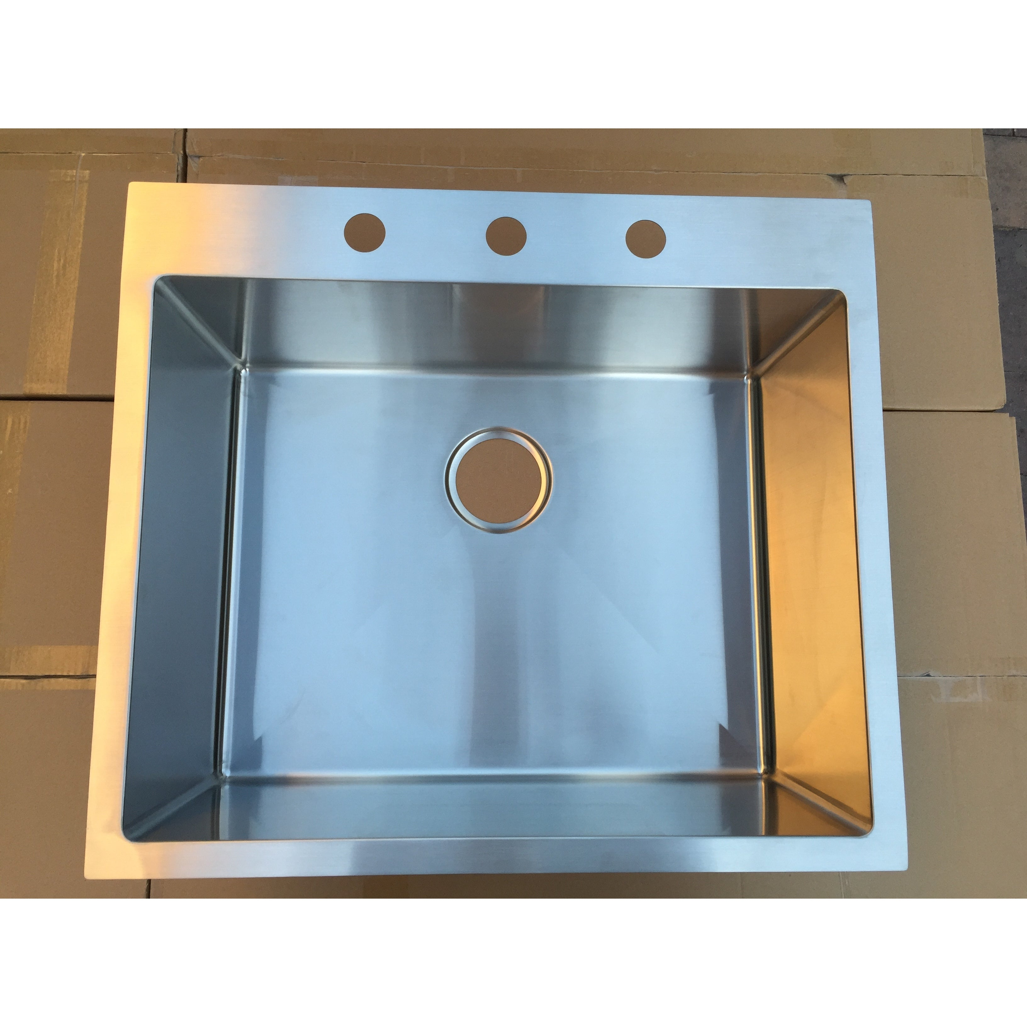 Shop Starstar 304 Stainless Steel 25-inch Single-bowl Top-mount ...