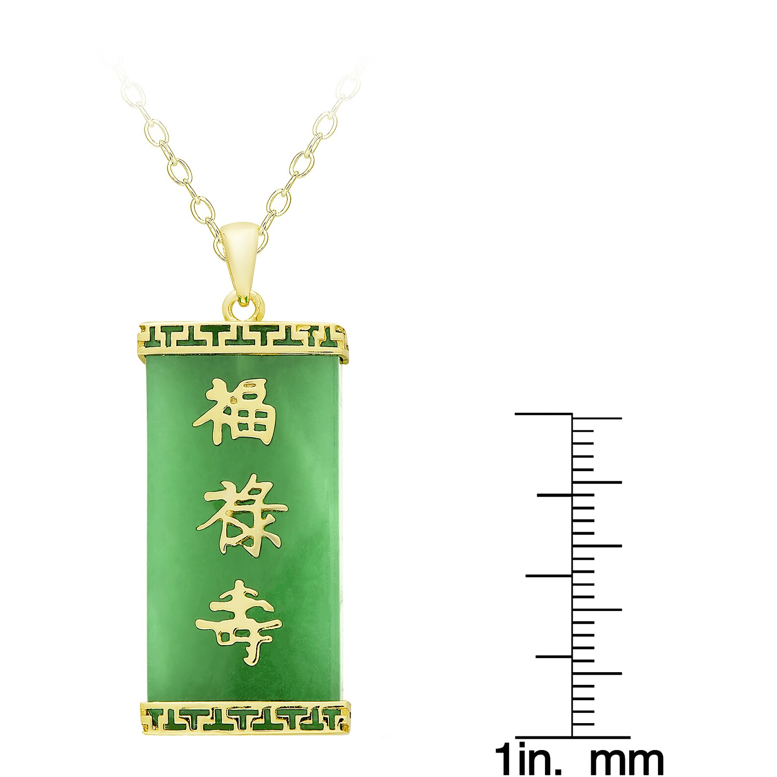 Shop Dolce Giavonna Gold Over Sterling Silver Dyed Green Jade