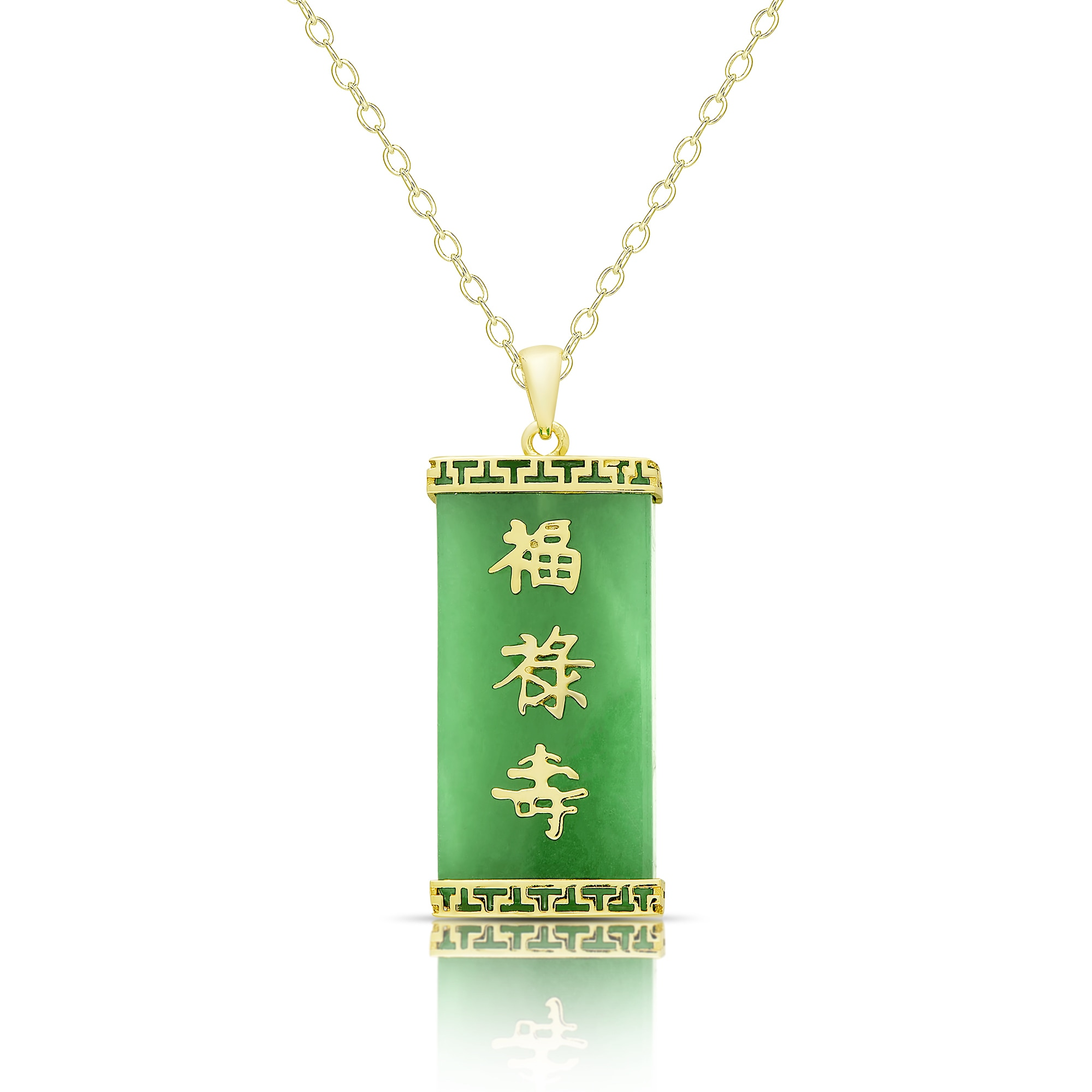 light jade necklace pendant yellow luck chinese a green gold