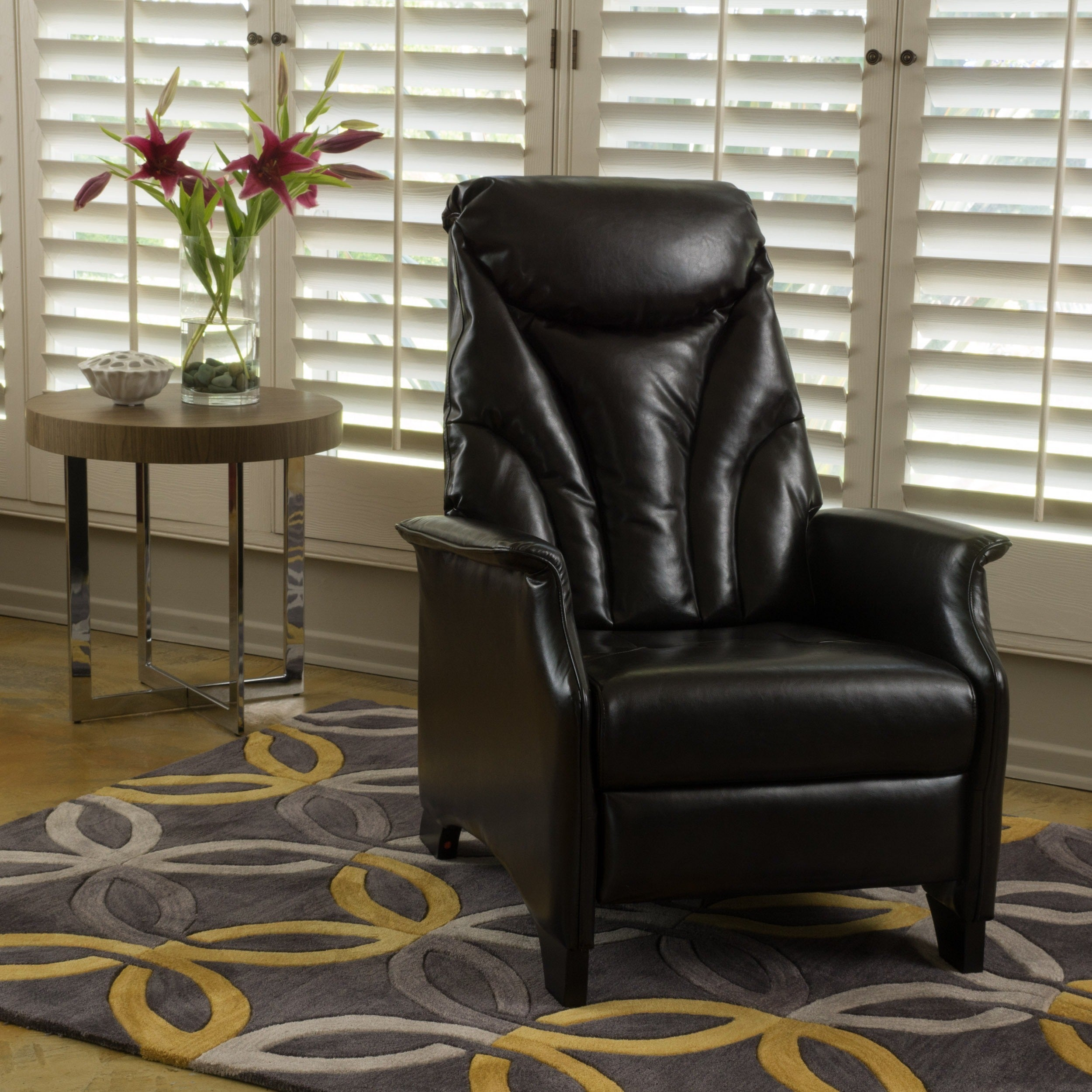 Shop Alastair Stitched Bonded Leather Recliner Club Chair By Christopher  Knight Home   On Sale   Free Shipping Today   Overstock.com   12027286