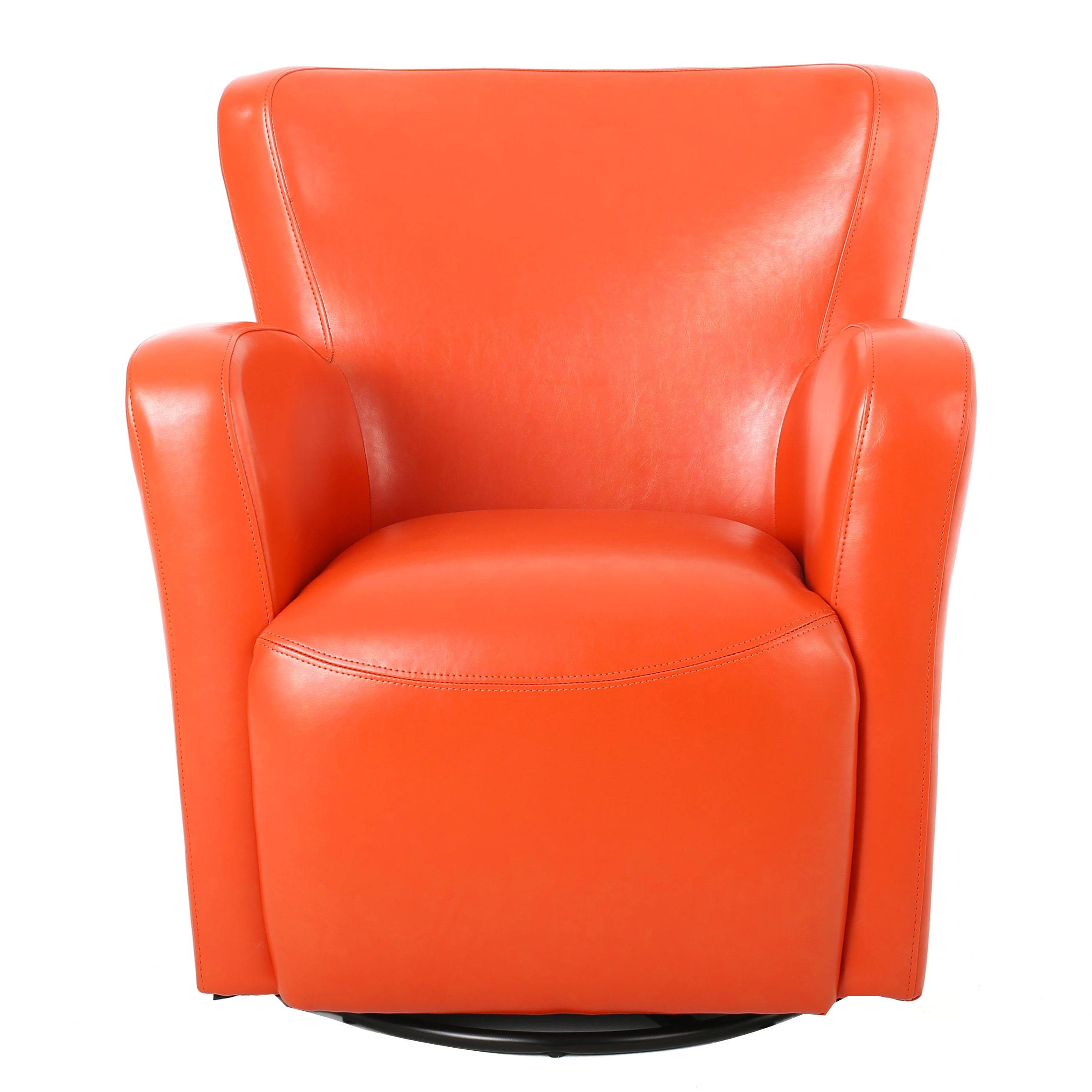 Shop Angelo Bonded Leather Wingback Swivel Club Chair By Christopher Knight  Home   On Sale   Free Shipping Today   Overstock.com   12027364