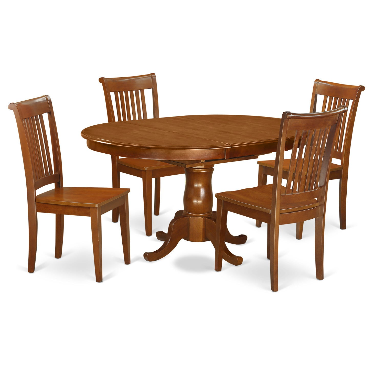 Shop traditional brown finish solid rubberwood 5 piece dining set with table and dining chairs free shipping today overstock com 12027632