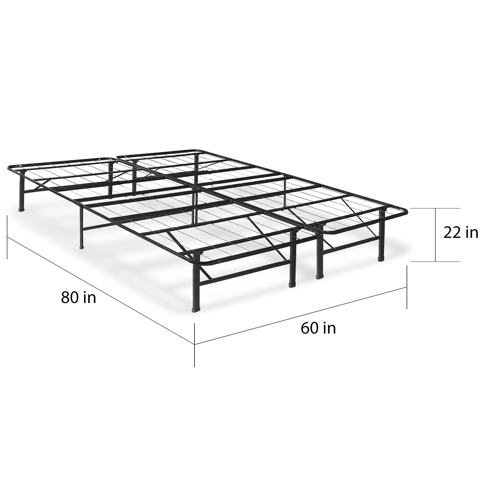 712de20083b2 Shop Crown Comfort 8-inch Memory Foam Mattress with Bed Frame Set - Free  Shipping Today - Overstock - 12027636