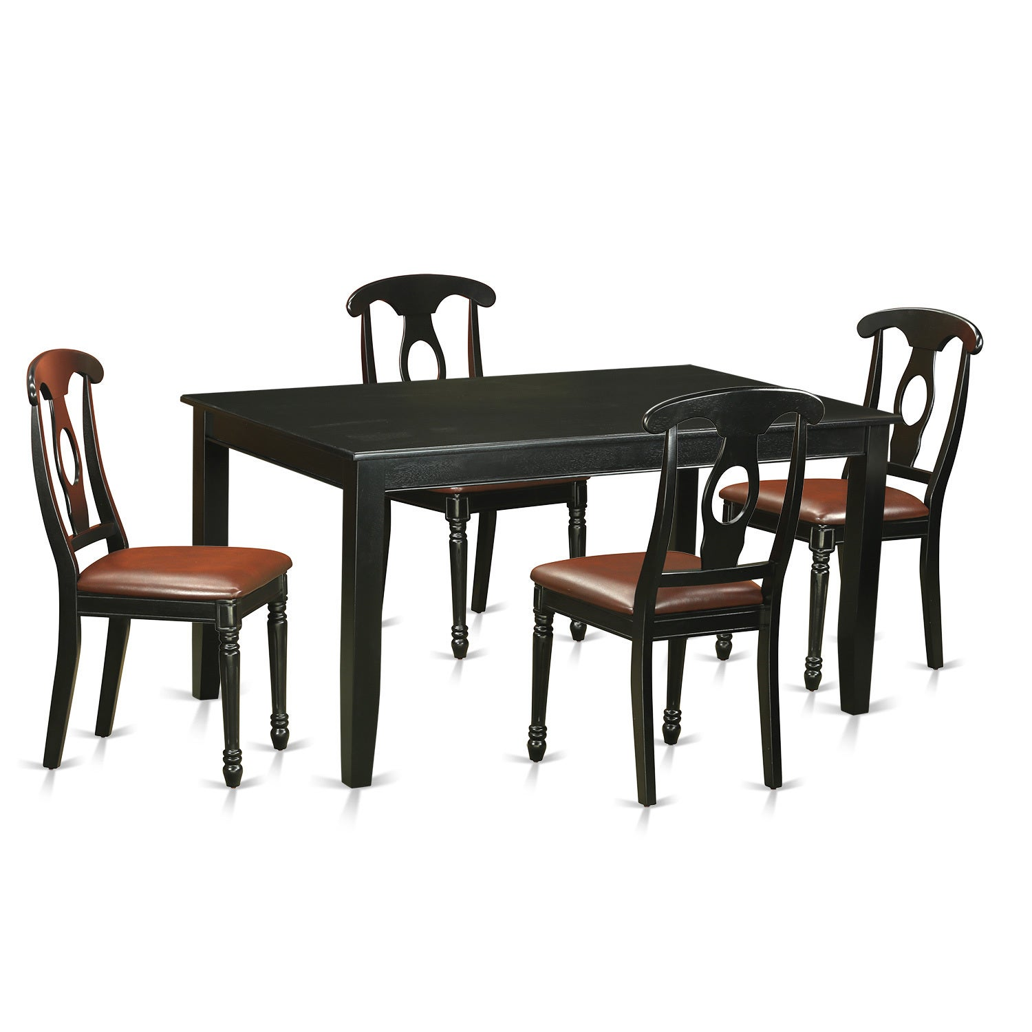 Remarkable Duke5 Blk Lc 5 Piece Dining Room Table And Chairs Gmtry Best Dining Table And Chair Ideas Images Gmtryco