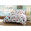 Greenland Home Fashions  Big Island Reversible 100-percent Cotton Quilt Set