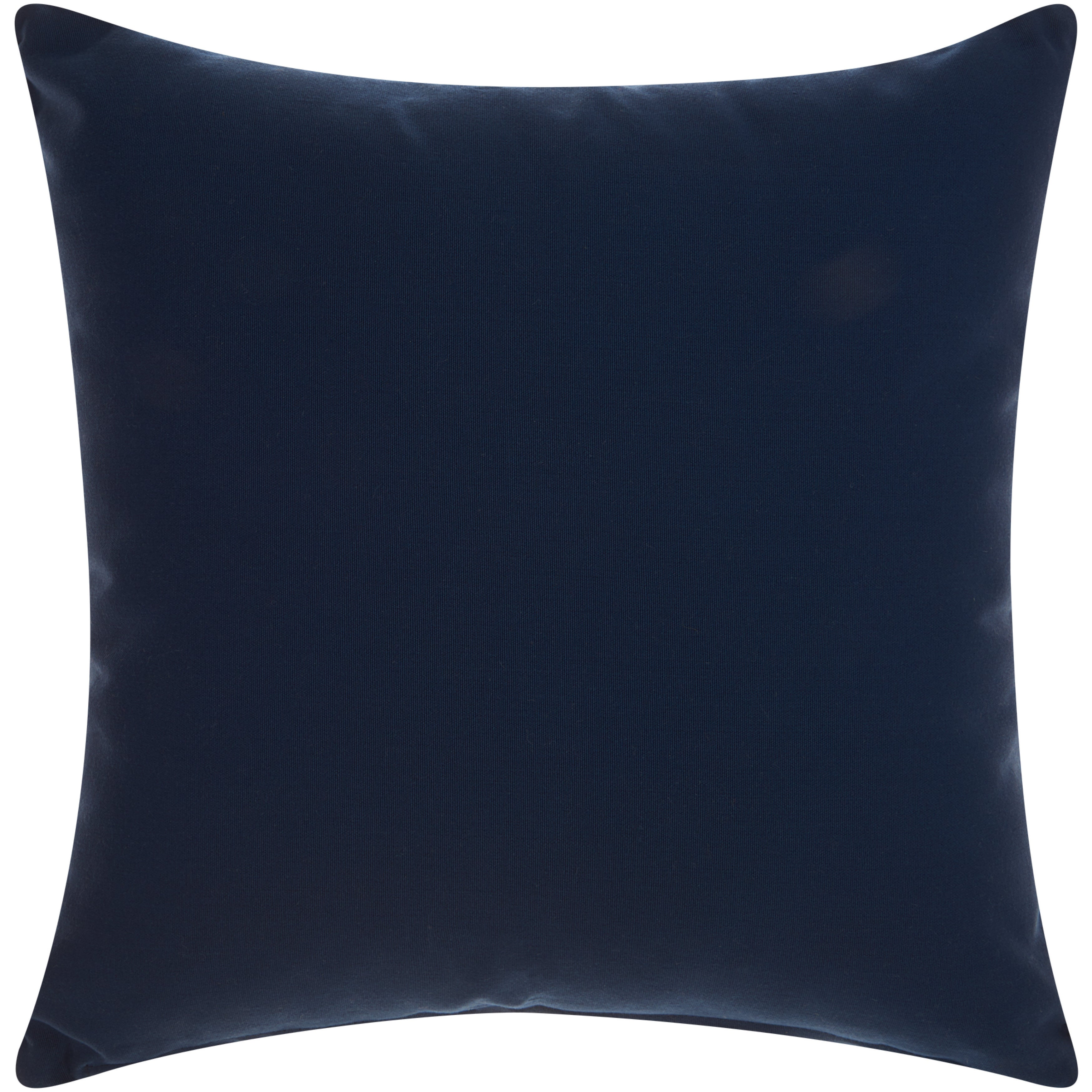 Mina Victory Indoor/ Outdoor Anchor Navy/ White Throw Pillow By Nourison  (18 X 18 Inch)   Free Shipping On Orders Over $45   Overstock.com   18905248