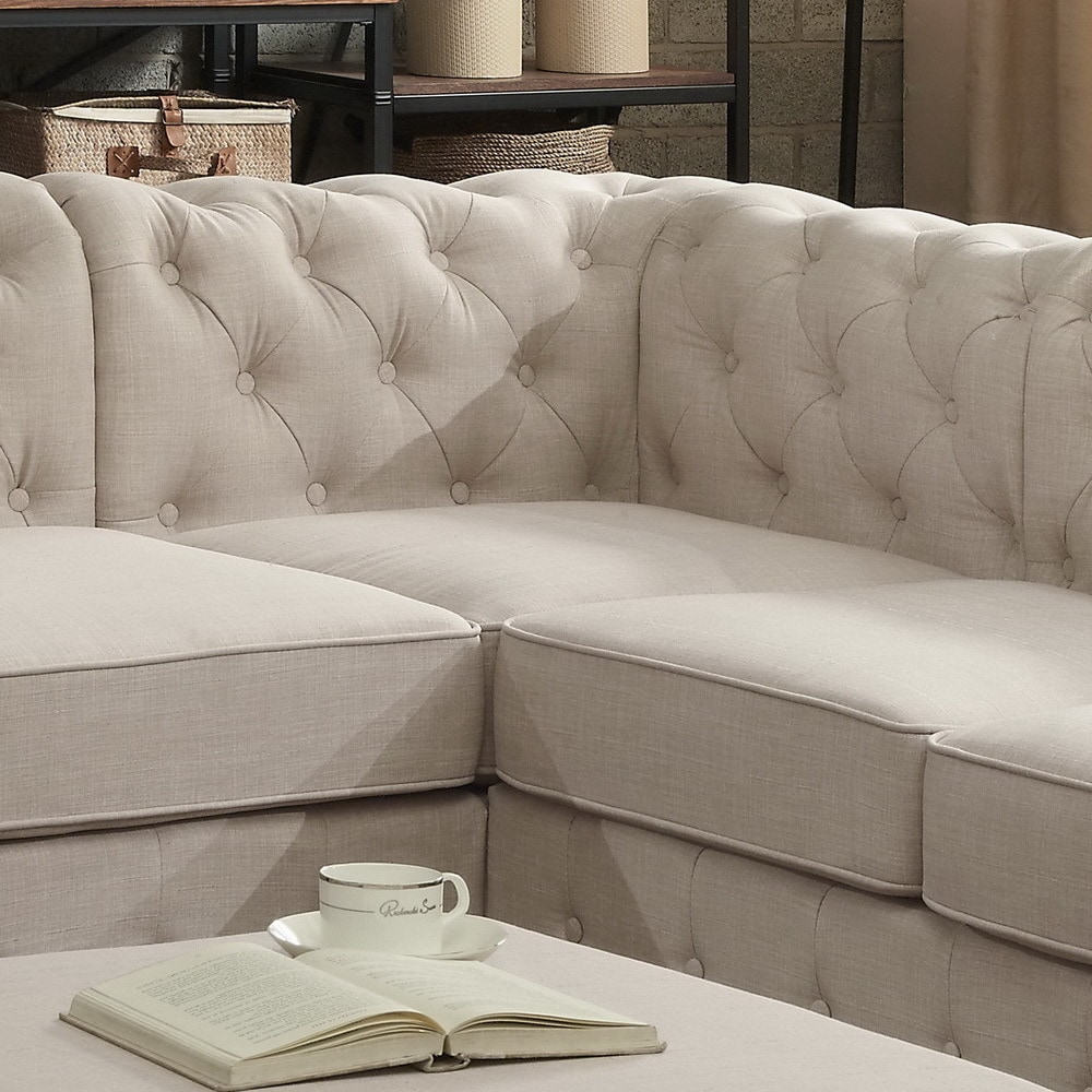 Moser Bay Furniture Olivia Tufted Sectional Sofa   Free Shipping Today    Overstock.com   18905527
