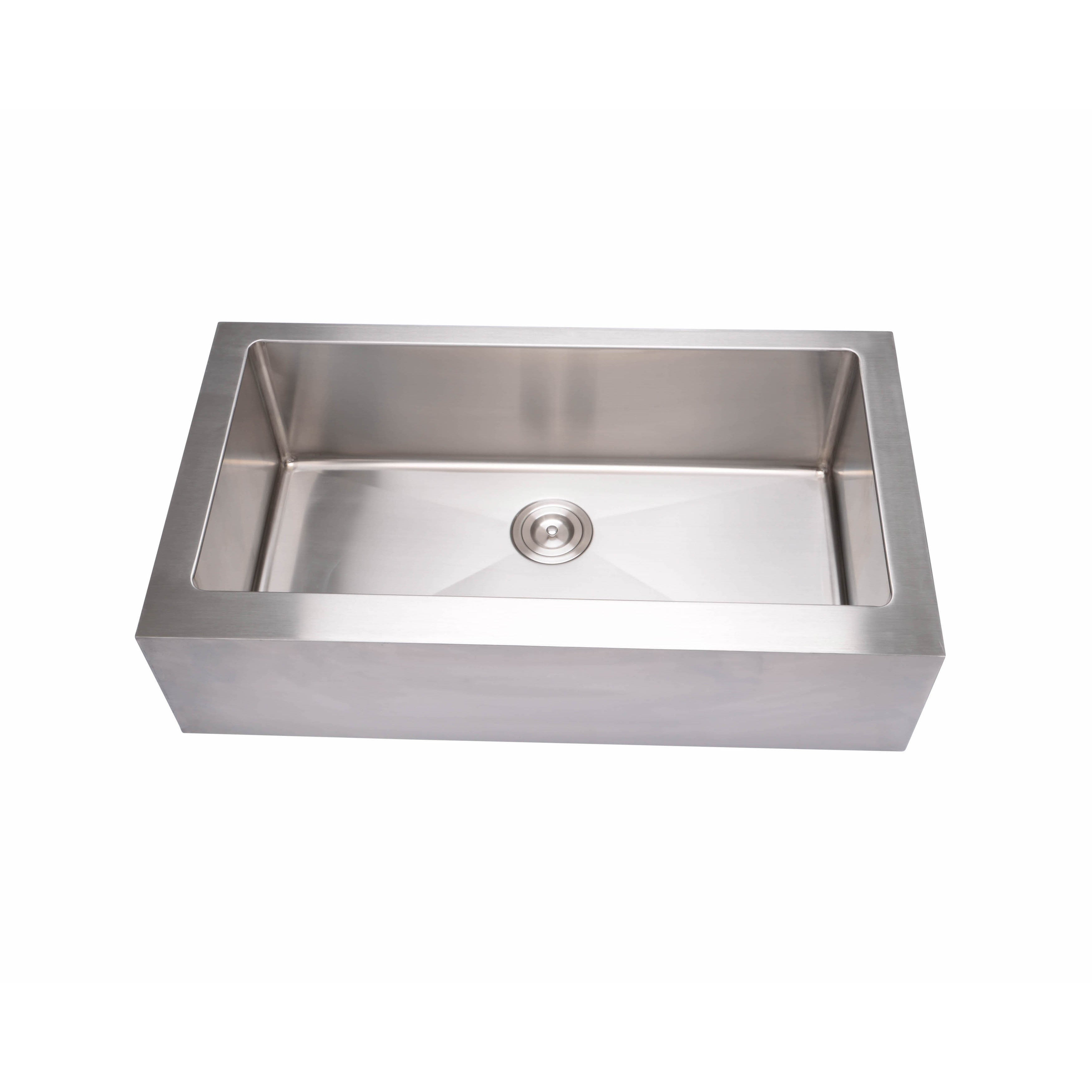 Hahn Flat apron Farmhouse Extra large Single bowl Sink Free