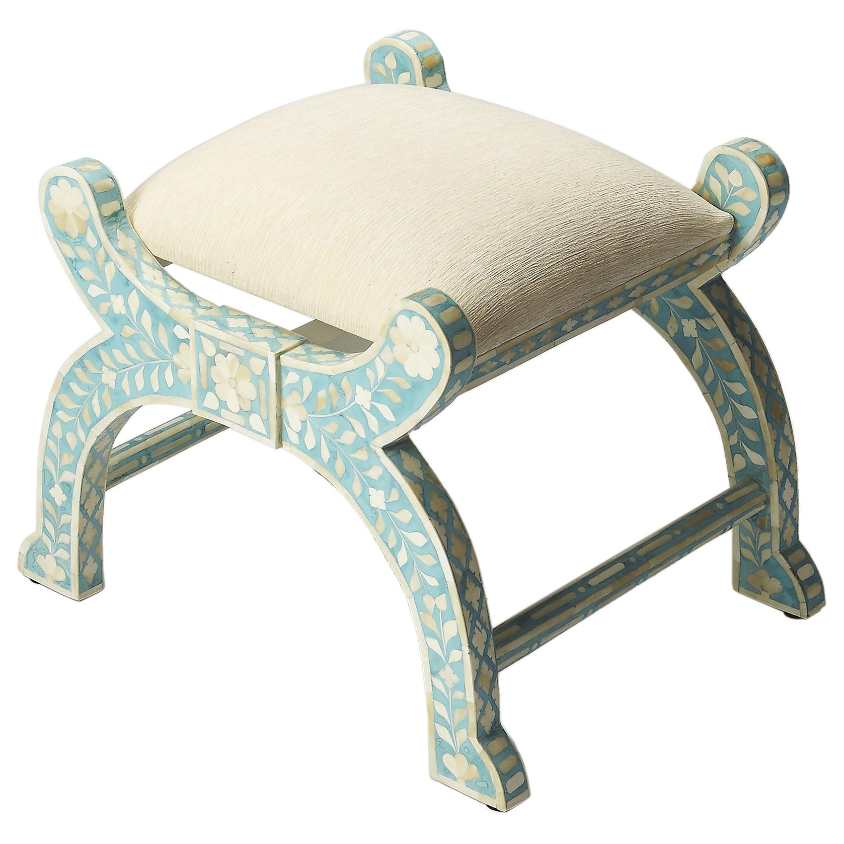 Peachy Butler Vivienne Traditional Hand Carved Jade Bone Inlay Wooden Stool Green Creativecarmelina Interior Chair Design Creativecarmelinacom
