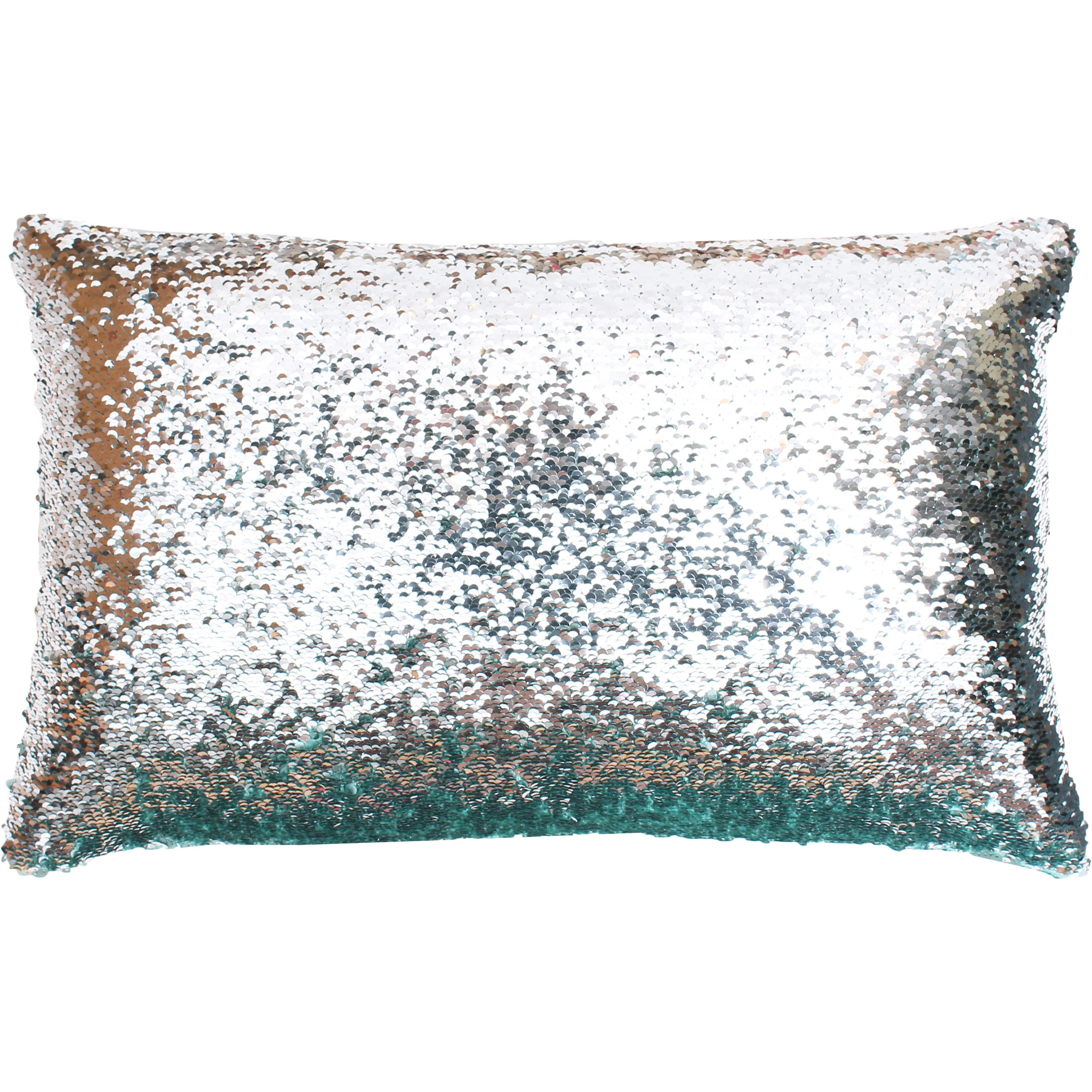 Best Melody Mermaid Reversible 12x20-inch Oblong Sequin Throw Pillow  PN38