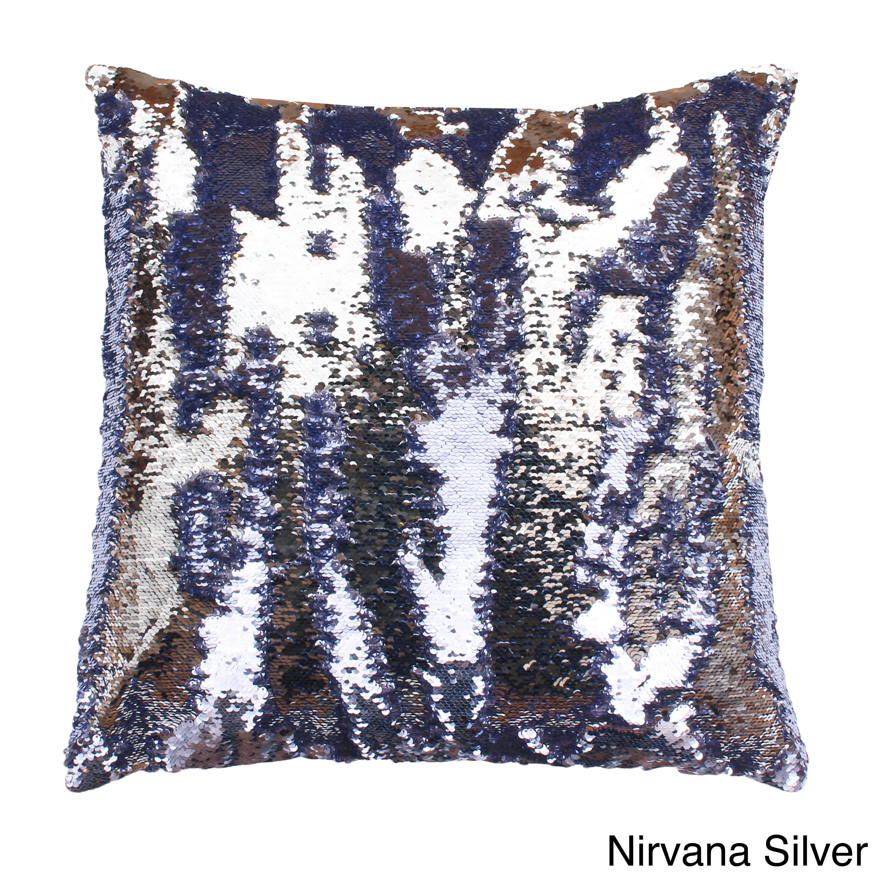 Attractive Melody Mermaid Reversible Sequin 20-inch Feather-filled Pillow  CD31