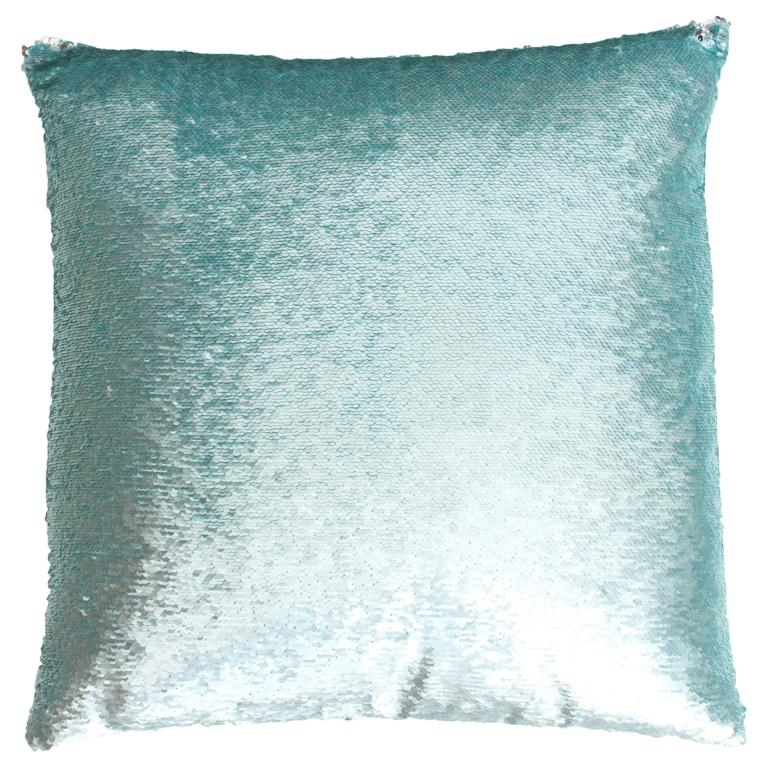 Top Melody Mermaid Reversible Sequin 20-inch Feather-filled Pillow  SS08