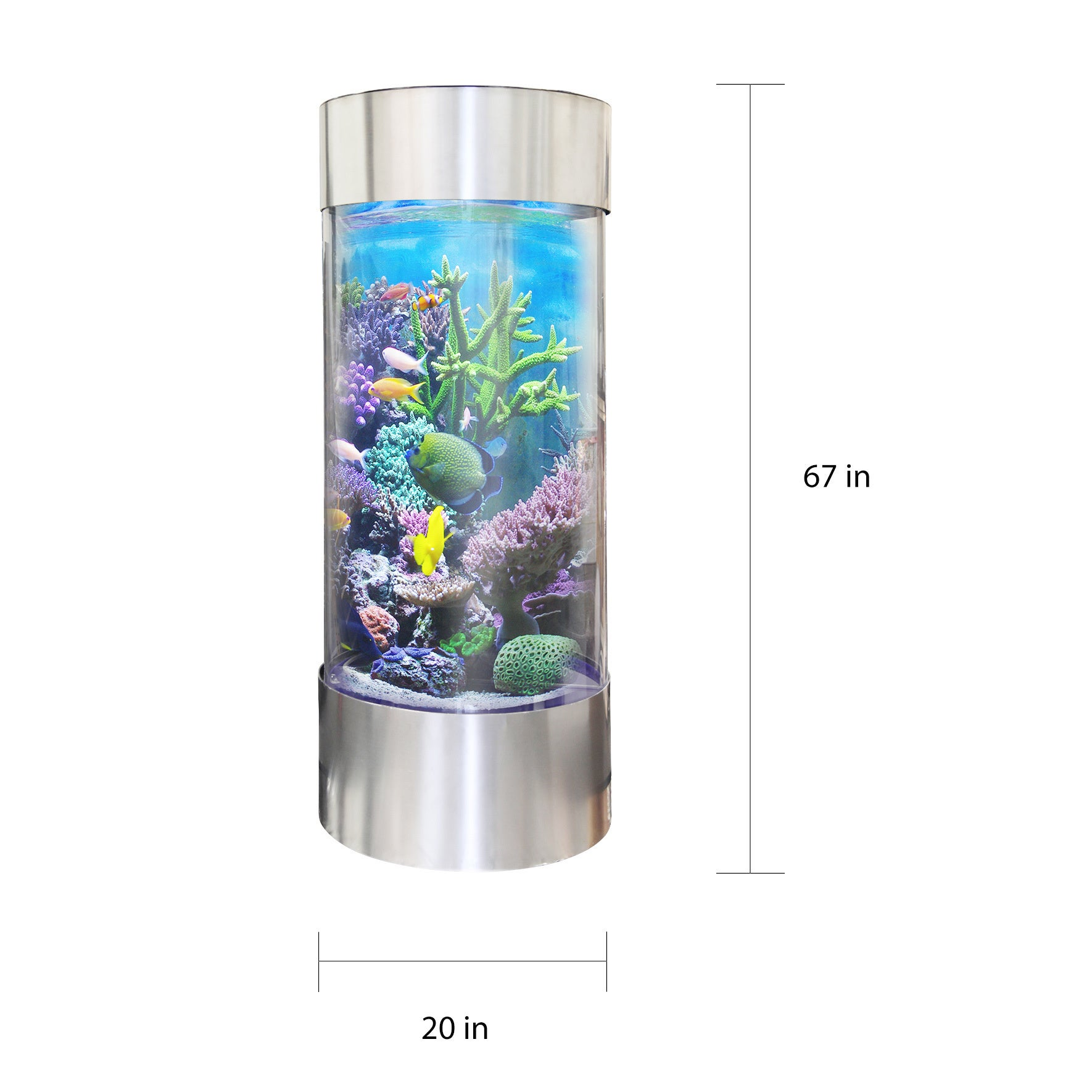 Shop Vapotek 360 Clear Acrylic and Plastic Cylinder Fish Tank with ...