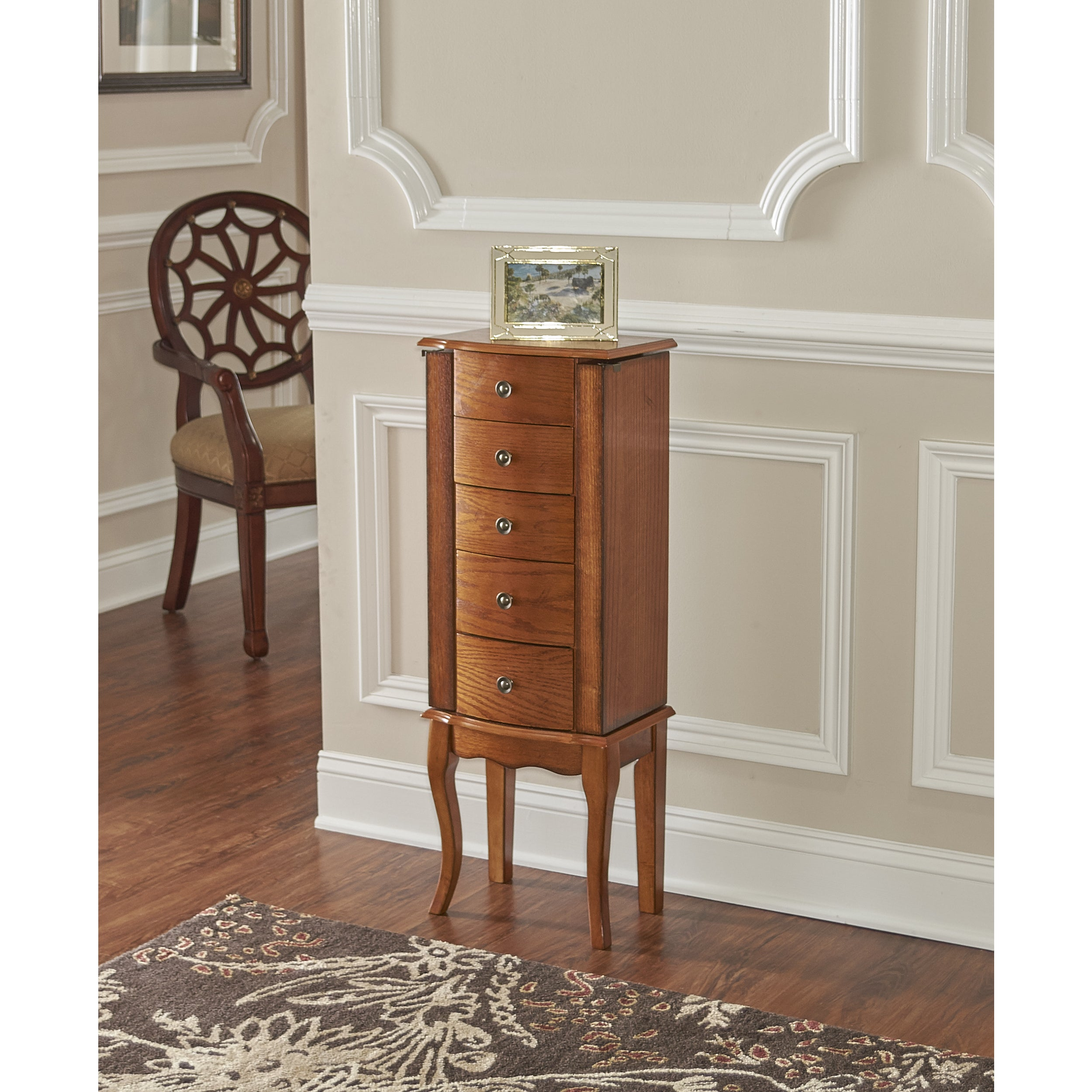 mirror hooker glamour armoire storage w melange open floor hutch accents silo iteminformation furniture jewelry
