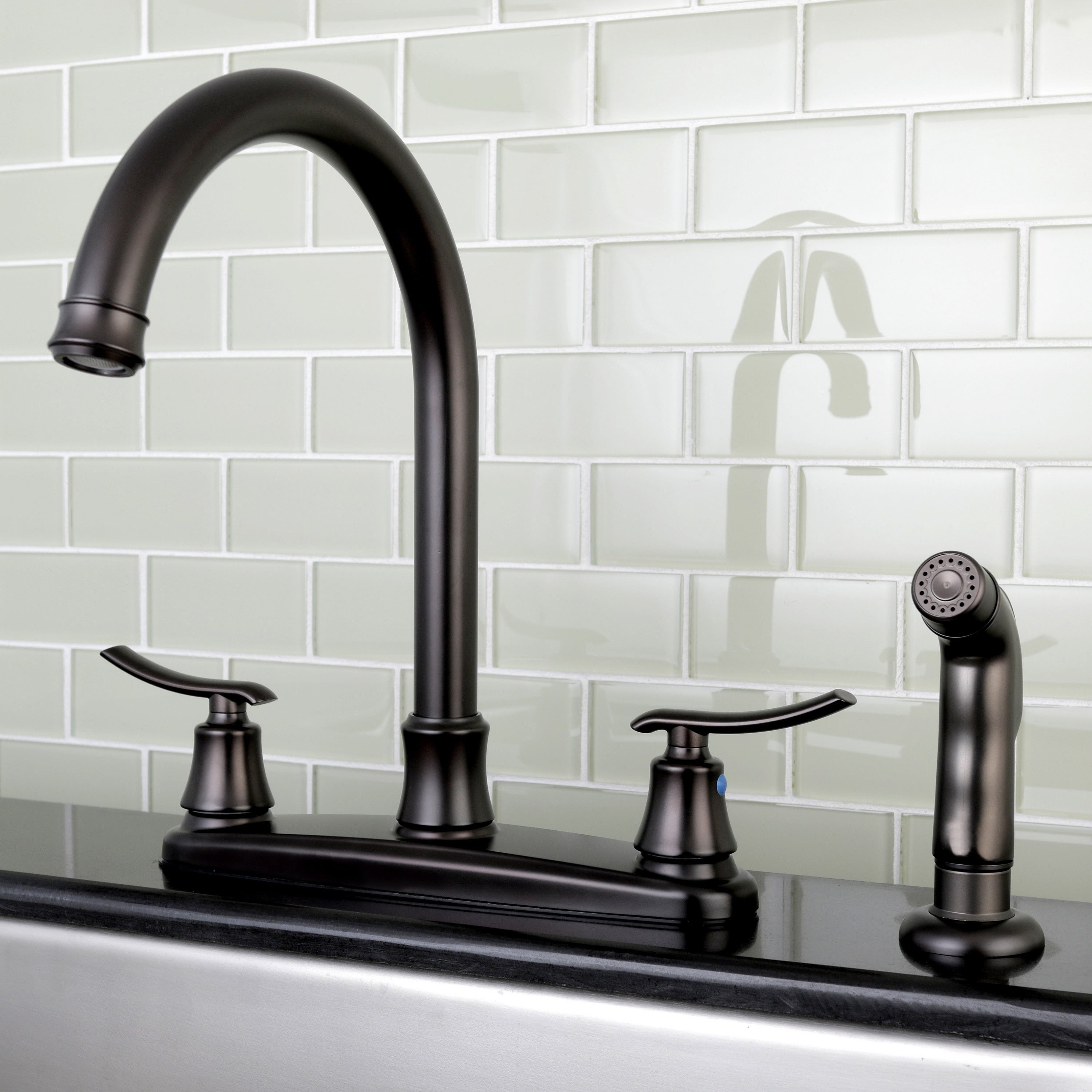 Euro oil rubbed bronze kitchen faucet with side sprayer free shipping today overstock 18912366