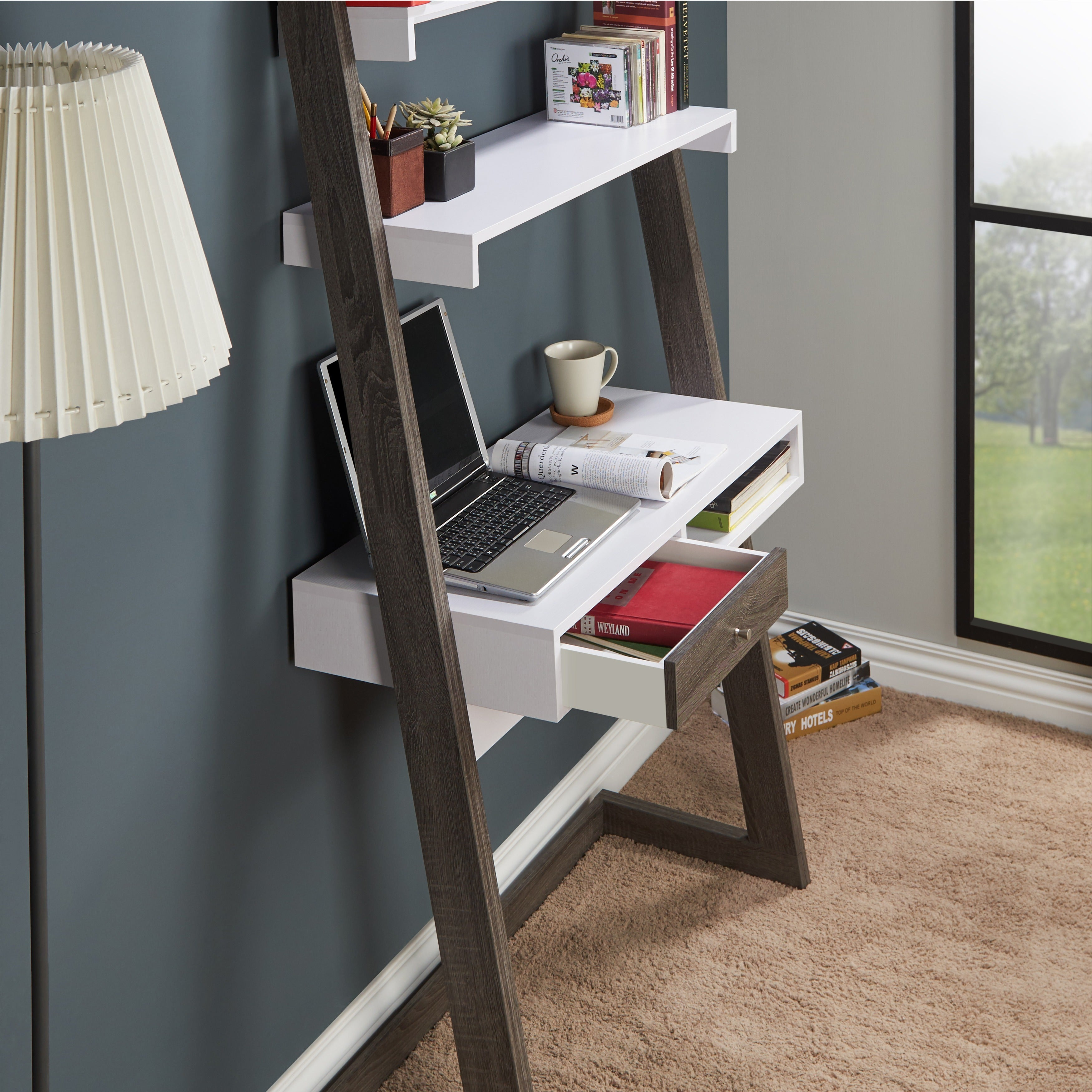 Furniture of America Tali Contemporary 2-tone Leaning Writing Desk - Free  Shipping Today - Overstock.com - 18913044