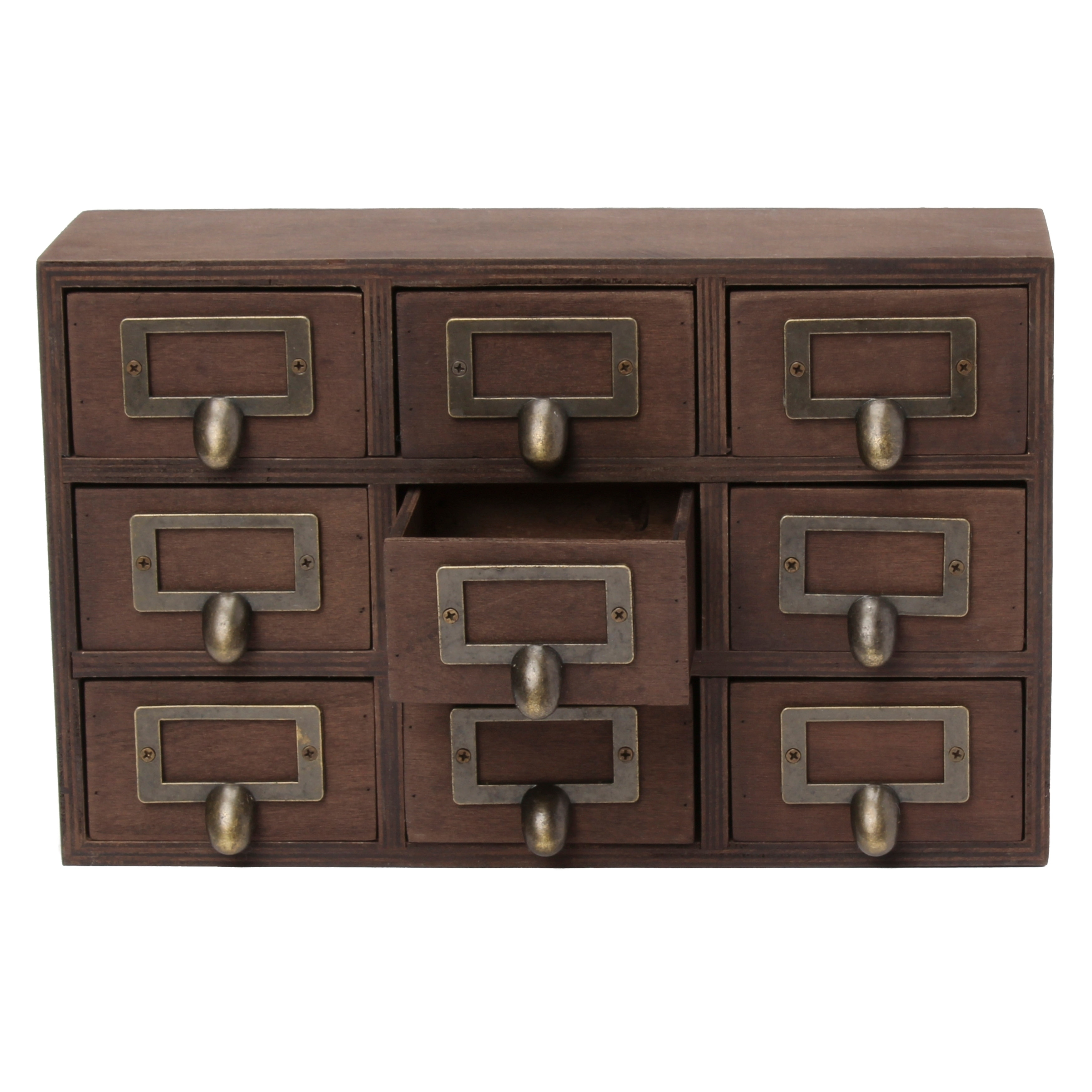 Apothecary 75X12X4 Desktop Rustic Wood Drawer Set  Free Shipping