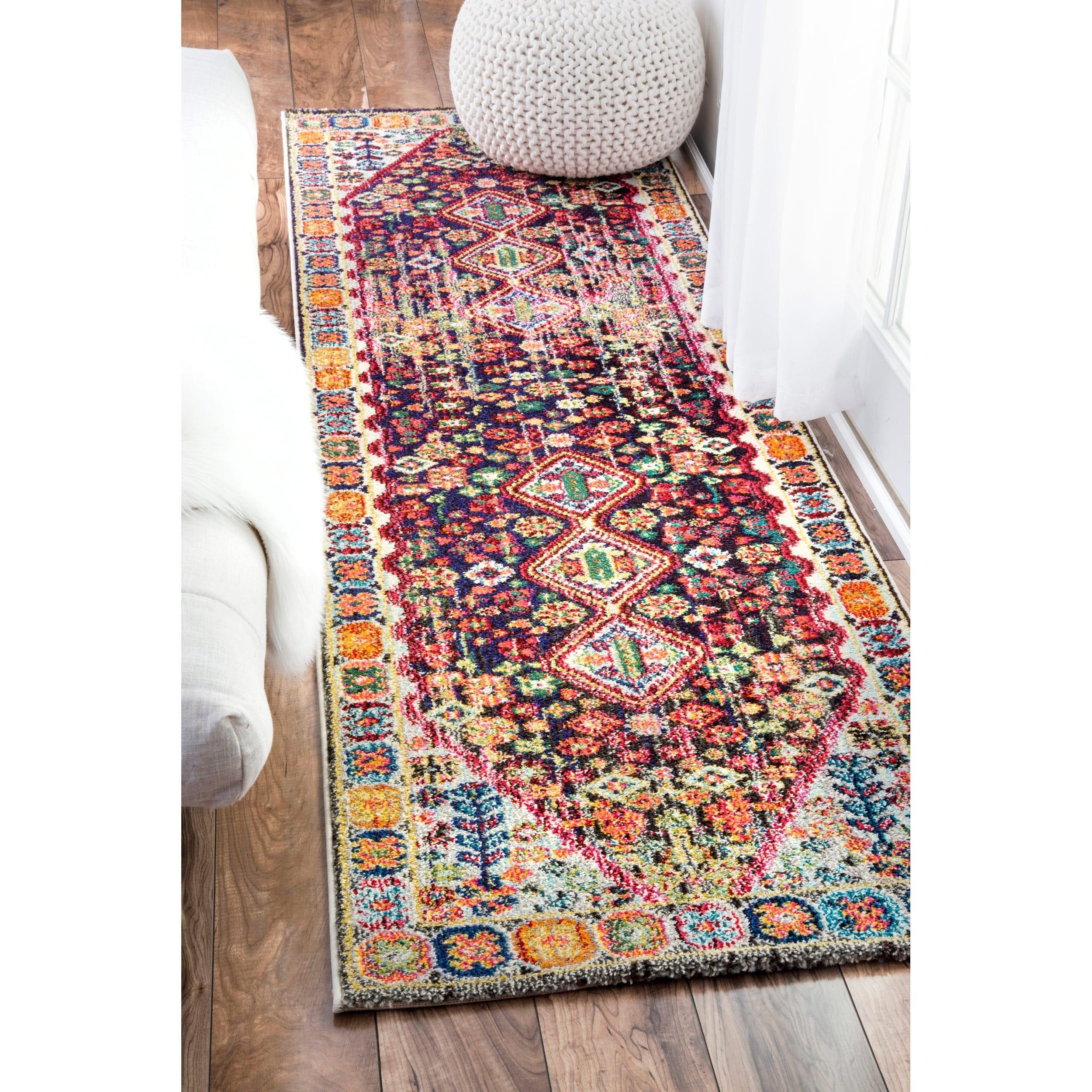 nuLOOM Distressed Traditional Flower Persian Multi Runner Rug (2\u00276 ...
