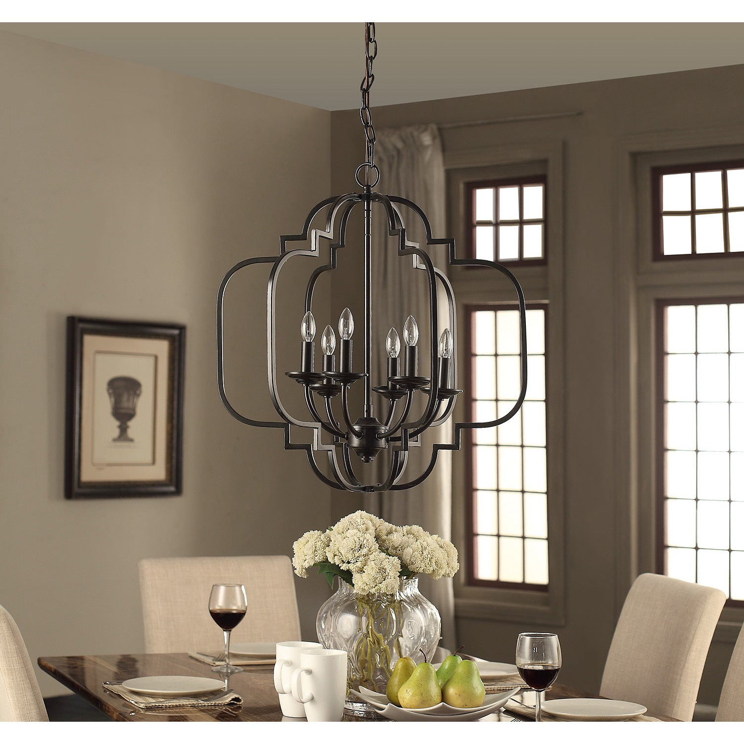 Moroccan 6 light dark bronze chandelier free shipping today moroccan 6 light dark bronze chandelier free shipping today overstock 18915727 mozeypictures Images