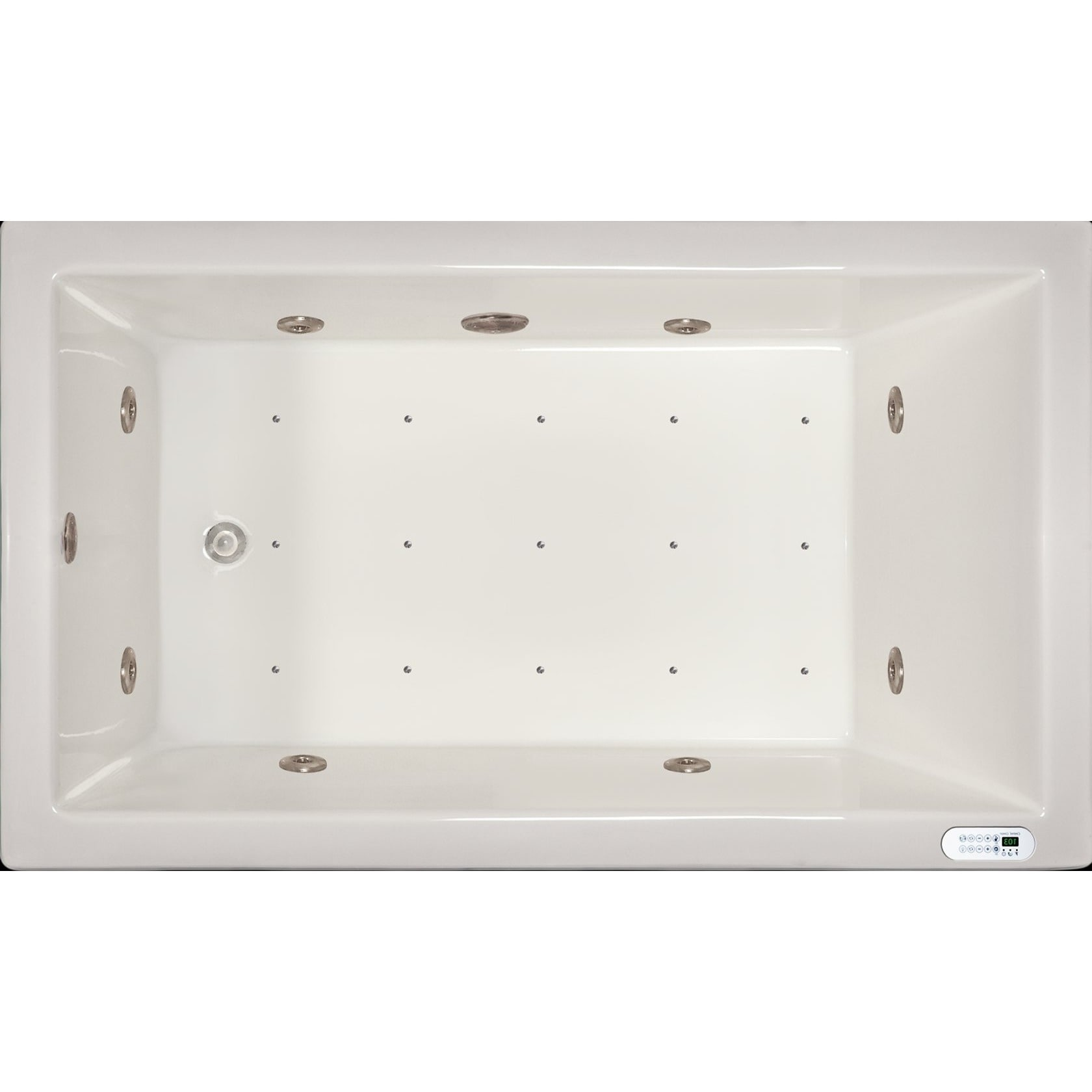 Signature Bath White Acrylic Drop In Whirlpool Combo Tub With Led Lighting And Waterfall Free Shipping Today 12045624