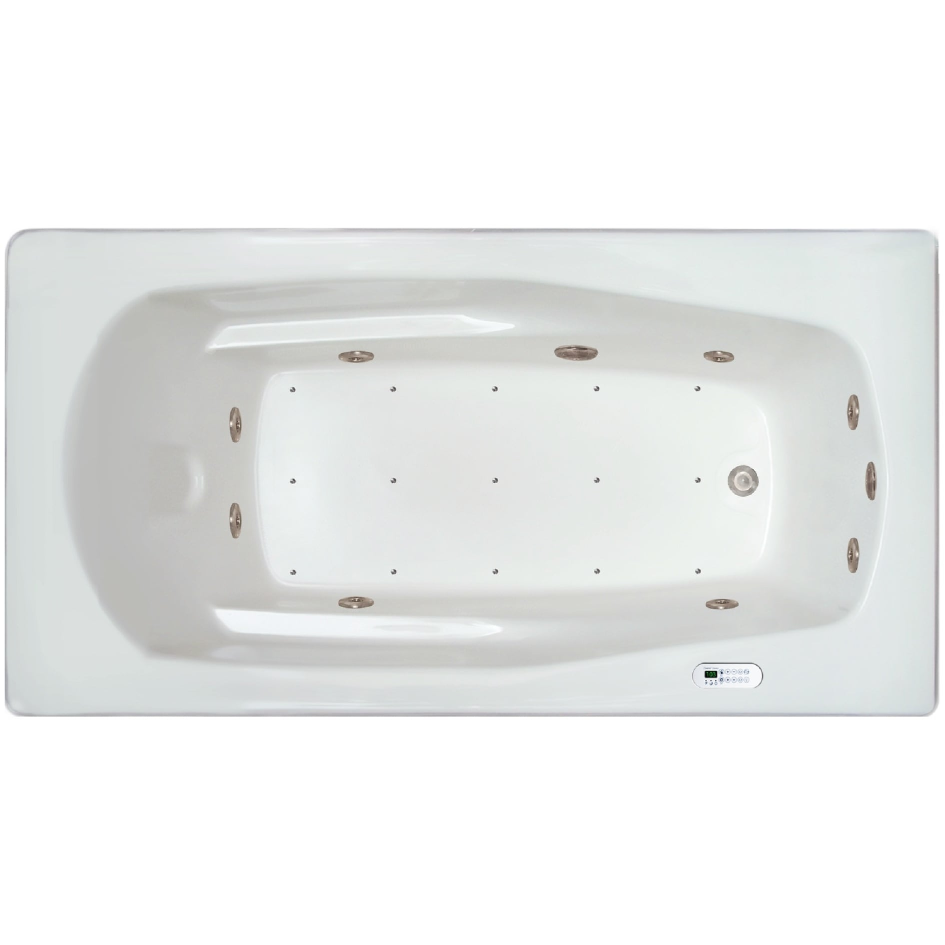 Shop Signature Bath White Acrylic Drop-in Whirlpool Combo Tub - Free ...