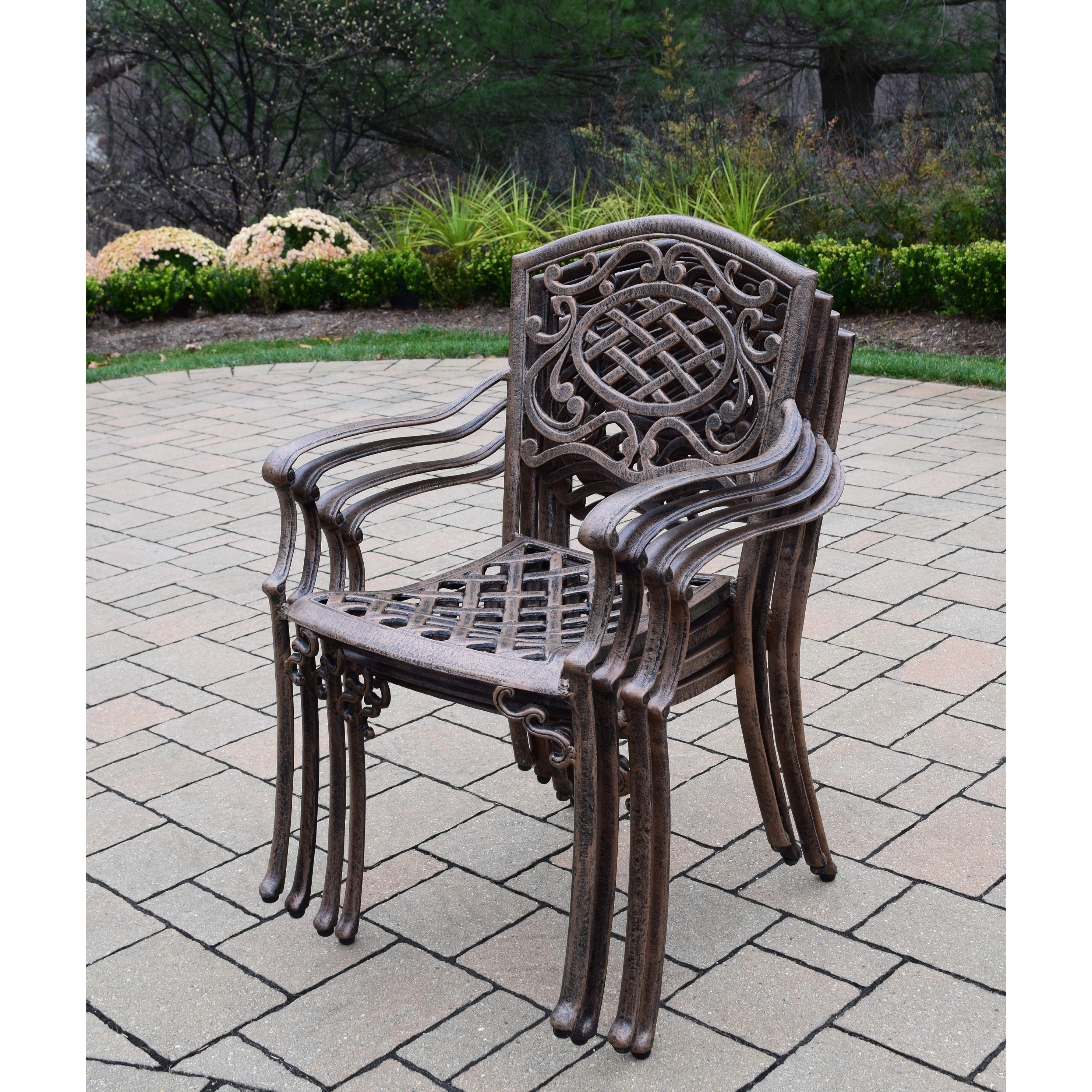 9 piece outdoor dining set table for 12 dakota cast aluminum 9piece outdoor dining set free shipping today overstockcom 18916198