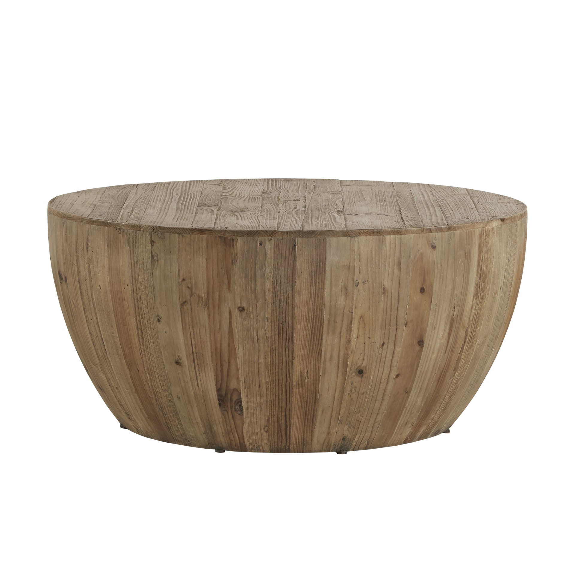 Hatteras Drum Reclaimed Woodblock Barrel Coffee Table By INSPIRE Q Artisan    Free Shipping Today   Overstock   18916768