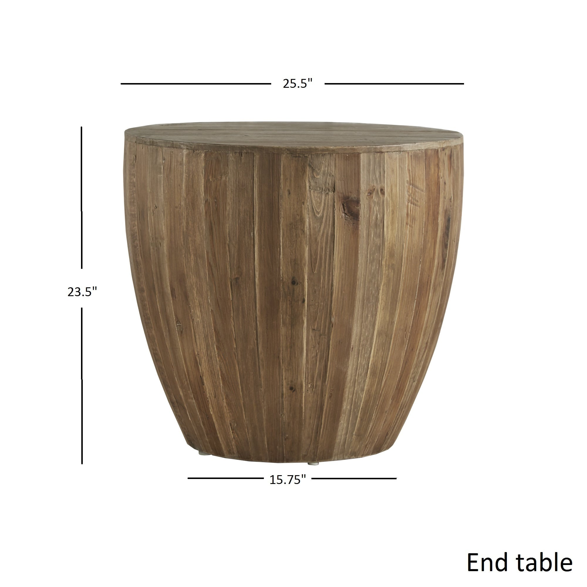 Hatteras Drum Reclaimed Woodblock Barrel Side Table By Inspire Q Free Shipping Today 18916769