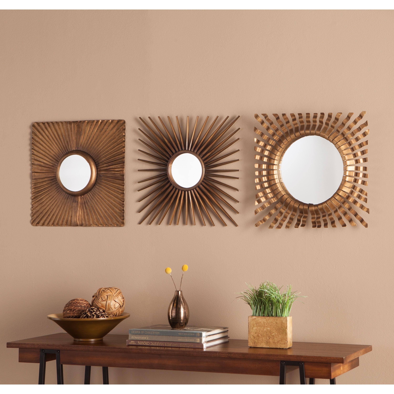 Shop Strick Bolton Sinatra 3 Piece Decorative Mirror Set On Sale