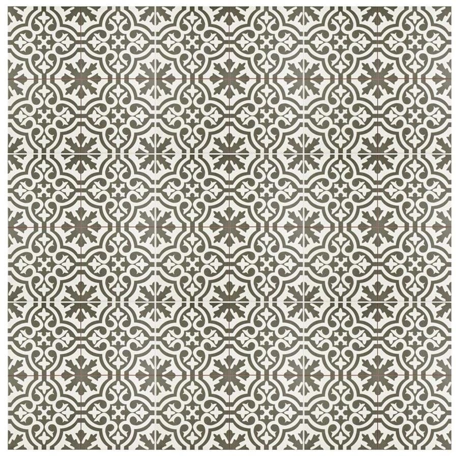 Shop SomerTile 17.625x17.625-inch Tudor Charcoal Brown Ceramic Floor ...